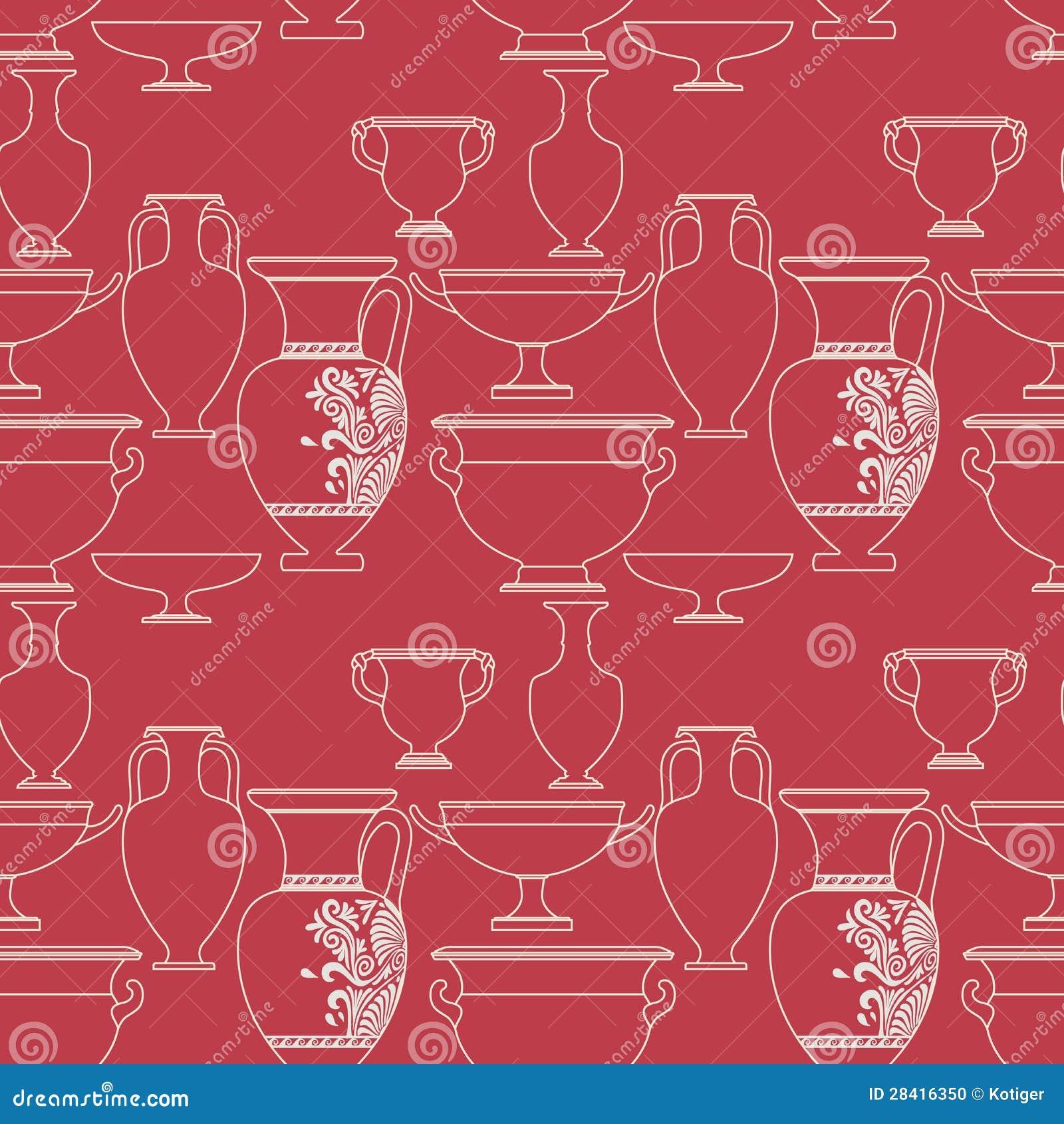 Ethnic National: Ceramic Ethnic National Greek Style Seamless Pattern Stock