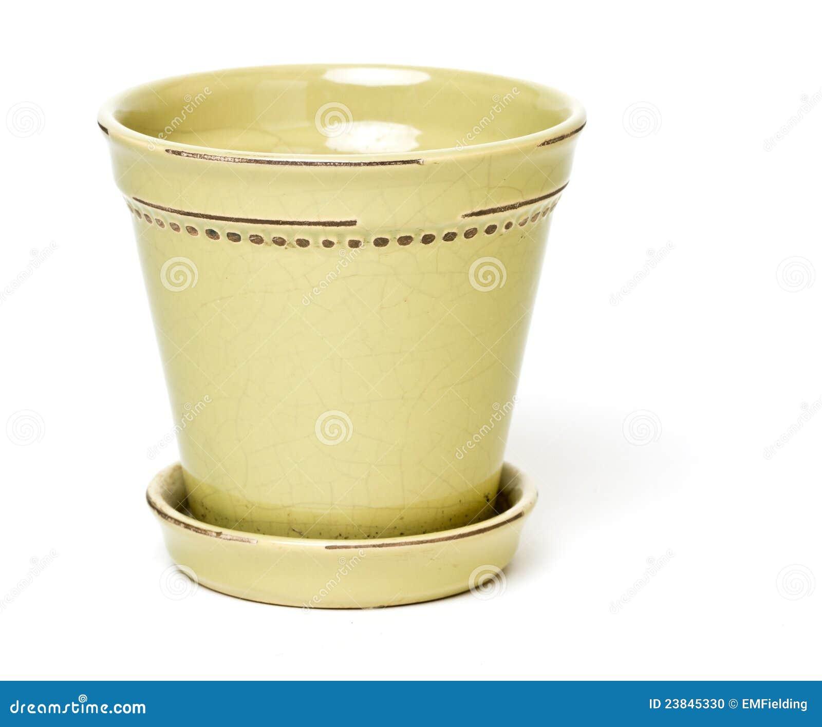 Ceramic Flower Pot Stock Image