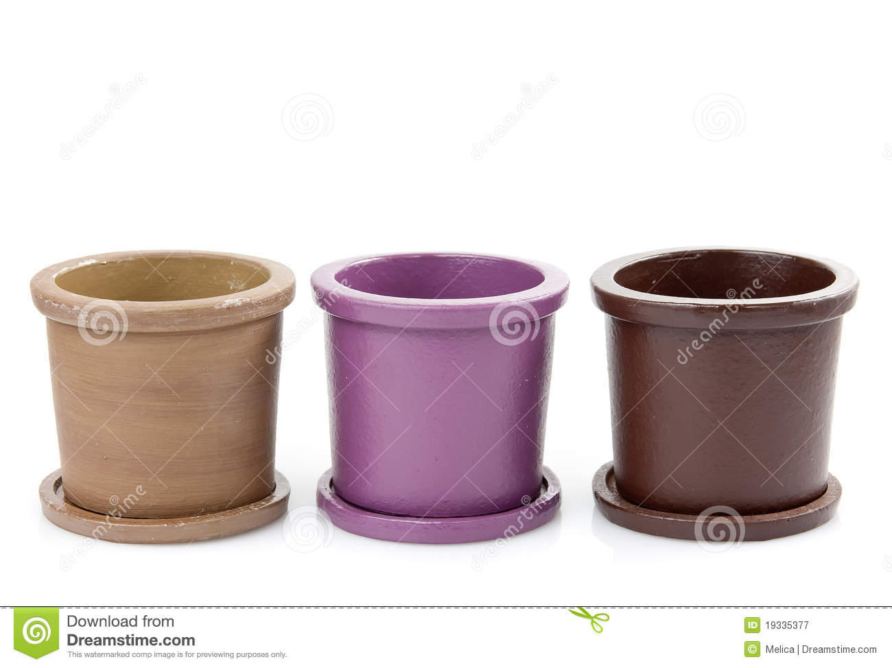 Ceramic Flower Pots Royalty Free Stock graphy Image