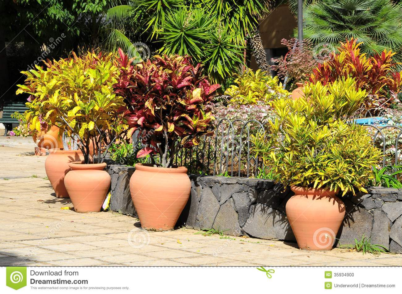 Ceramic Garden Pot Stock Photo Image 35934900