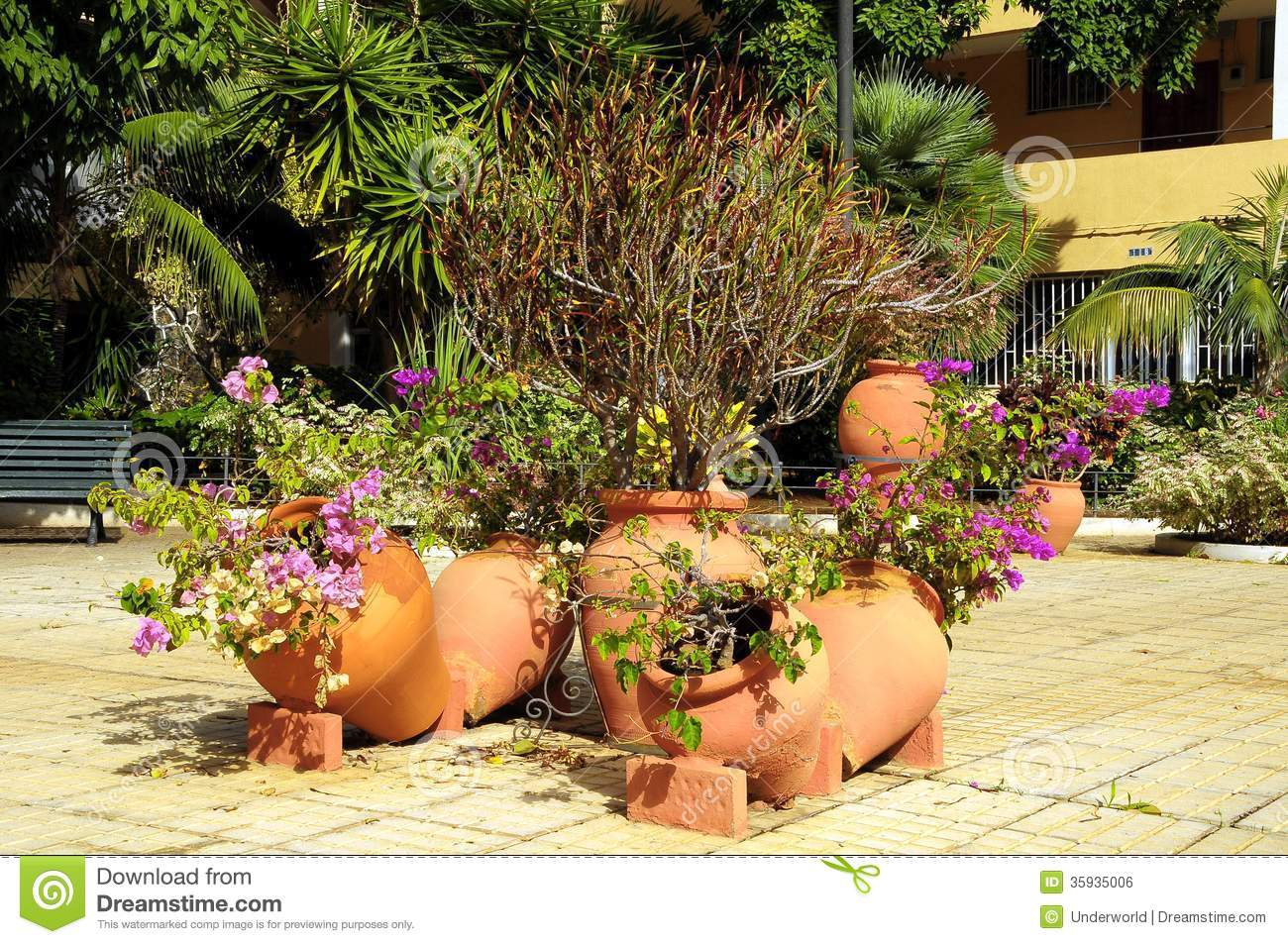 Ceramic Garden Pot Stock Photo Image Of Background