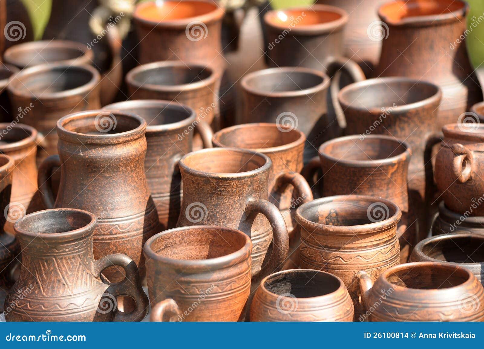 Download Ceramic jugs stock photo. Image of decoration, crockery - 26100814
