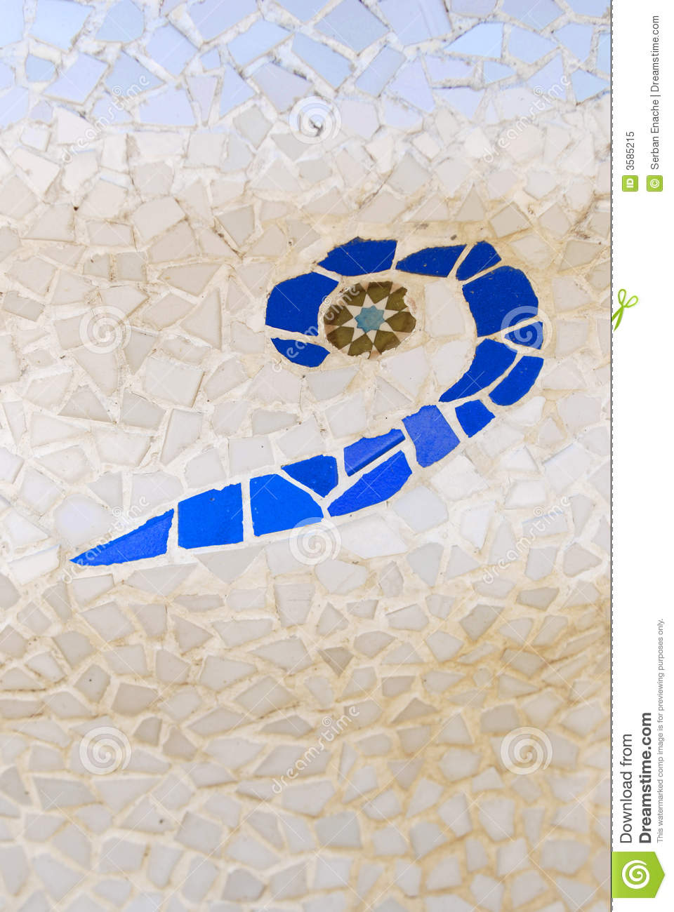 Ceramic Mosaic By Gaudi Stock Image Image Of Colours