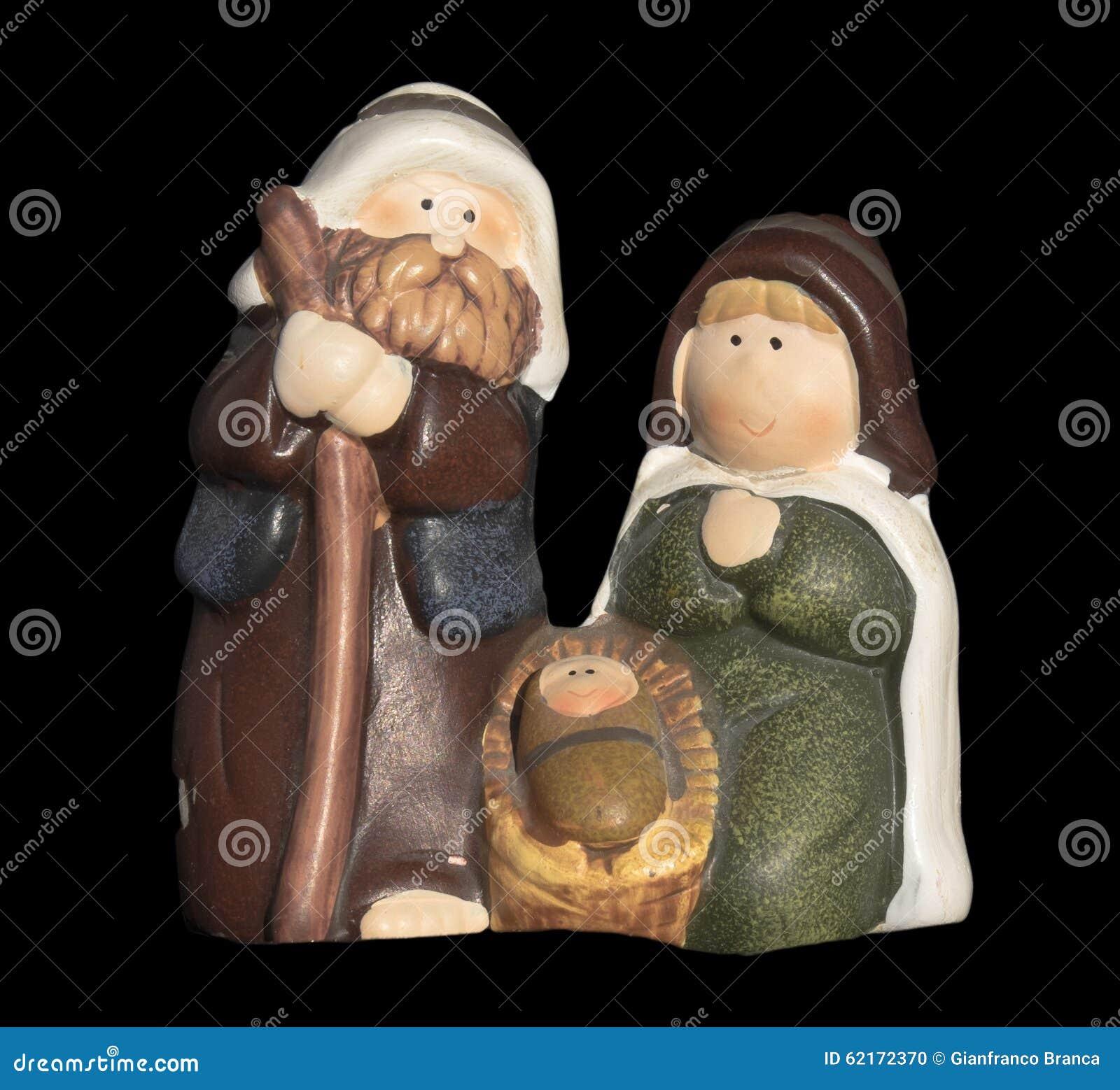 Ceramic Nativity Christmas Ornament Stock Photo - Image ...