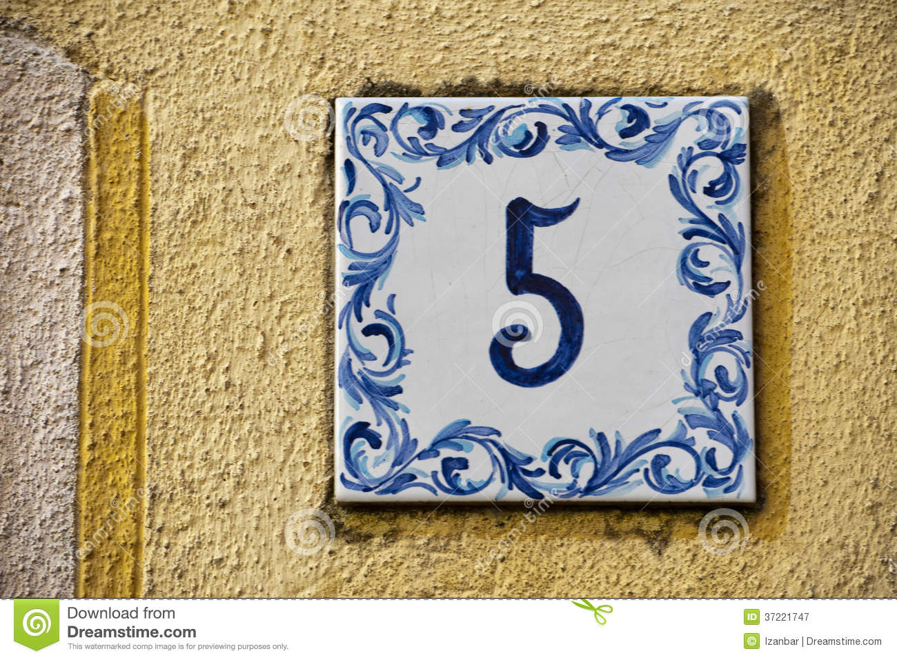 Ceramic number tile 5 stock image image of ornament 37221747 ceramic number tile 5 dailygadgetfo Images