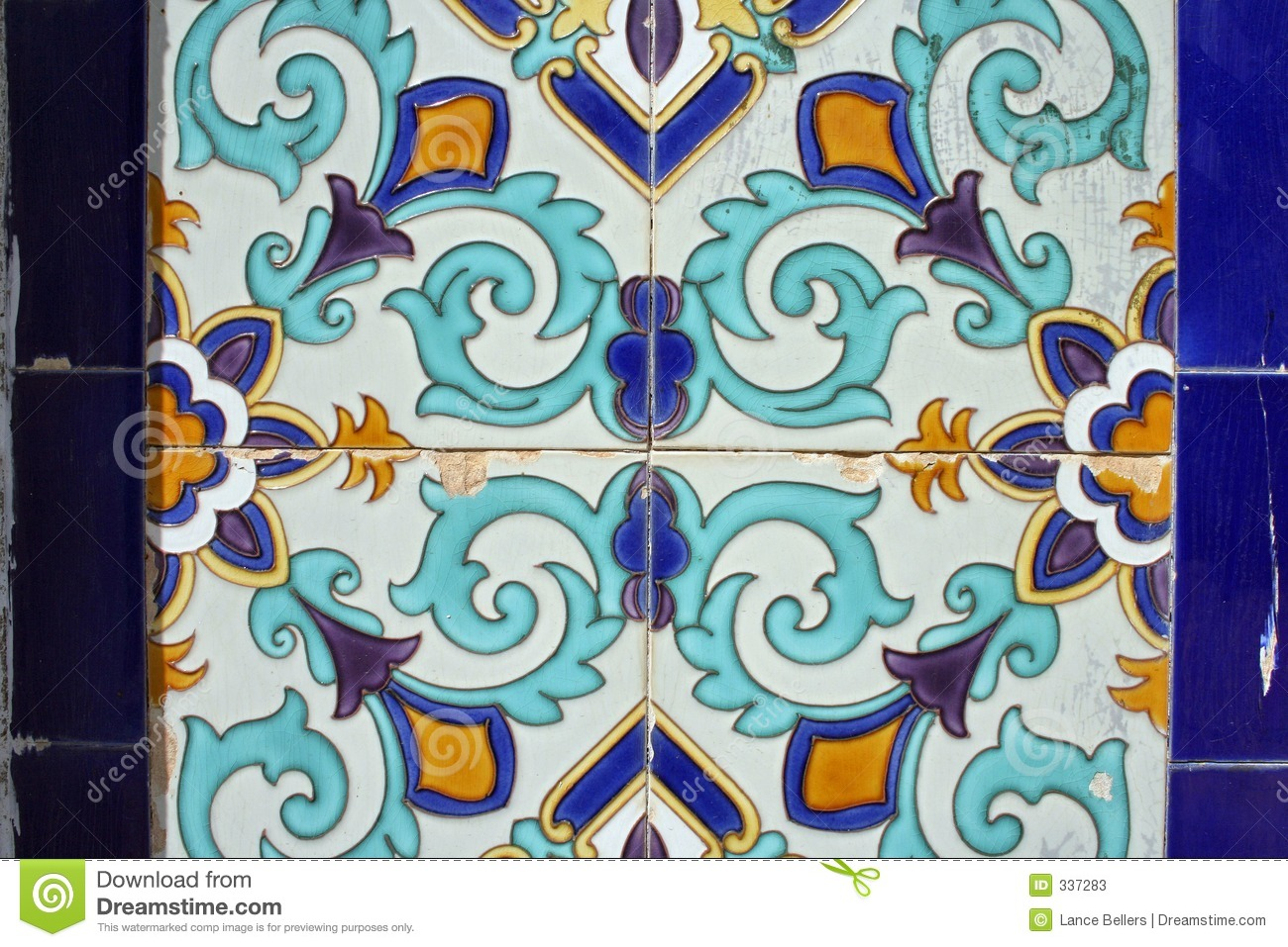 Ceramic pattern stock image  Image of repeated, enamel - 337283