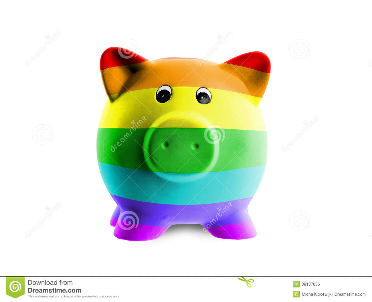Ceramic piggy bank with painting of flag royalty free for How to paint a ceramic piggy bank