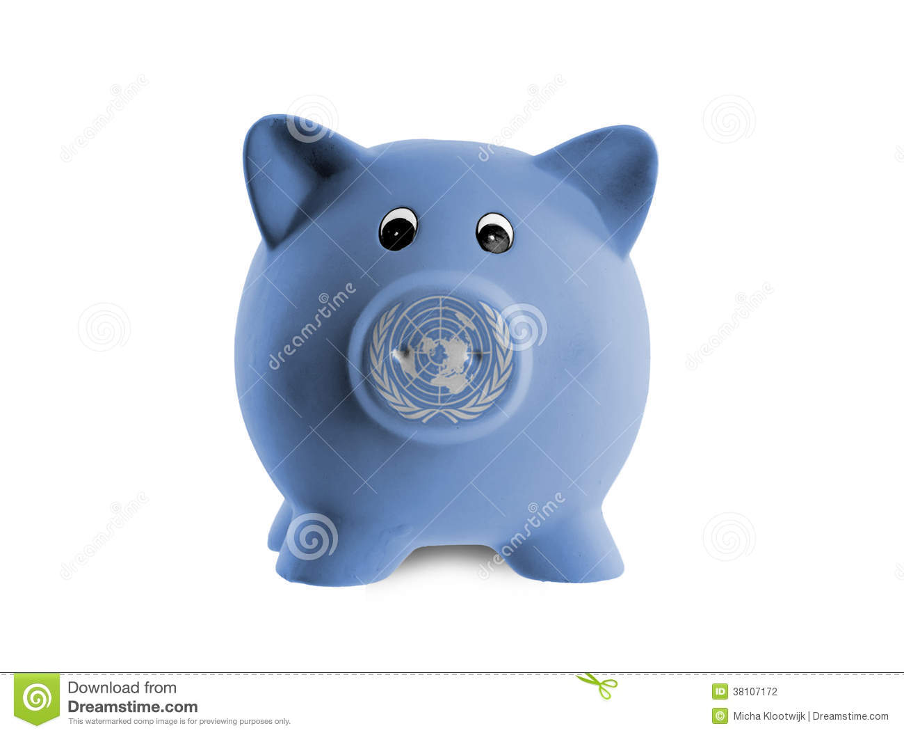 Ceramic piggy bank with painting of national flag stock for How to paint a ceramic piggy bank