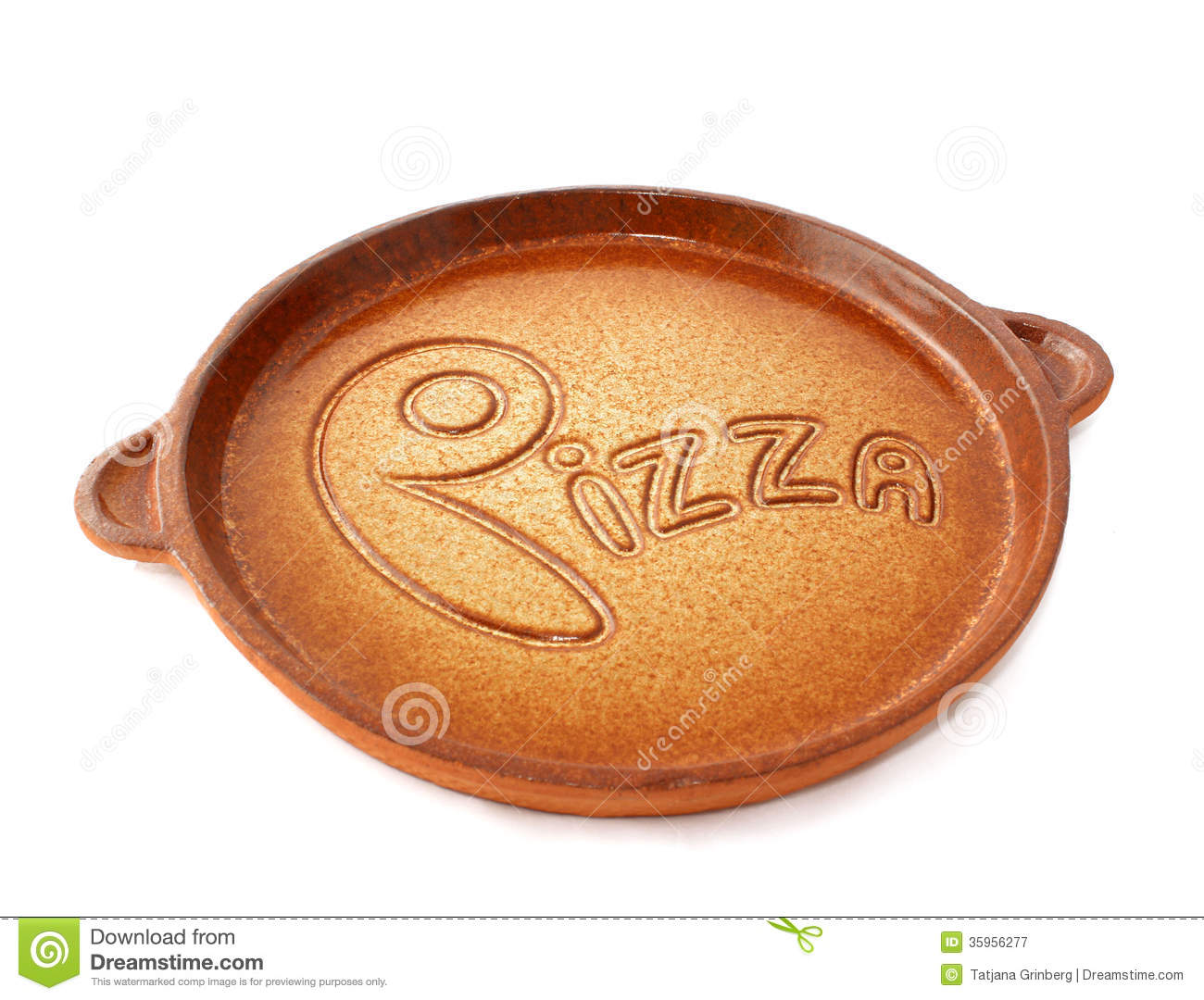 Ceramic plate pizza on white background  sc 1 st  Dreamstime.com & Ceramic Plate Pizza On White Background Stock Image - Image of ...