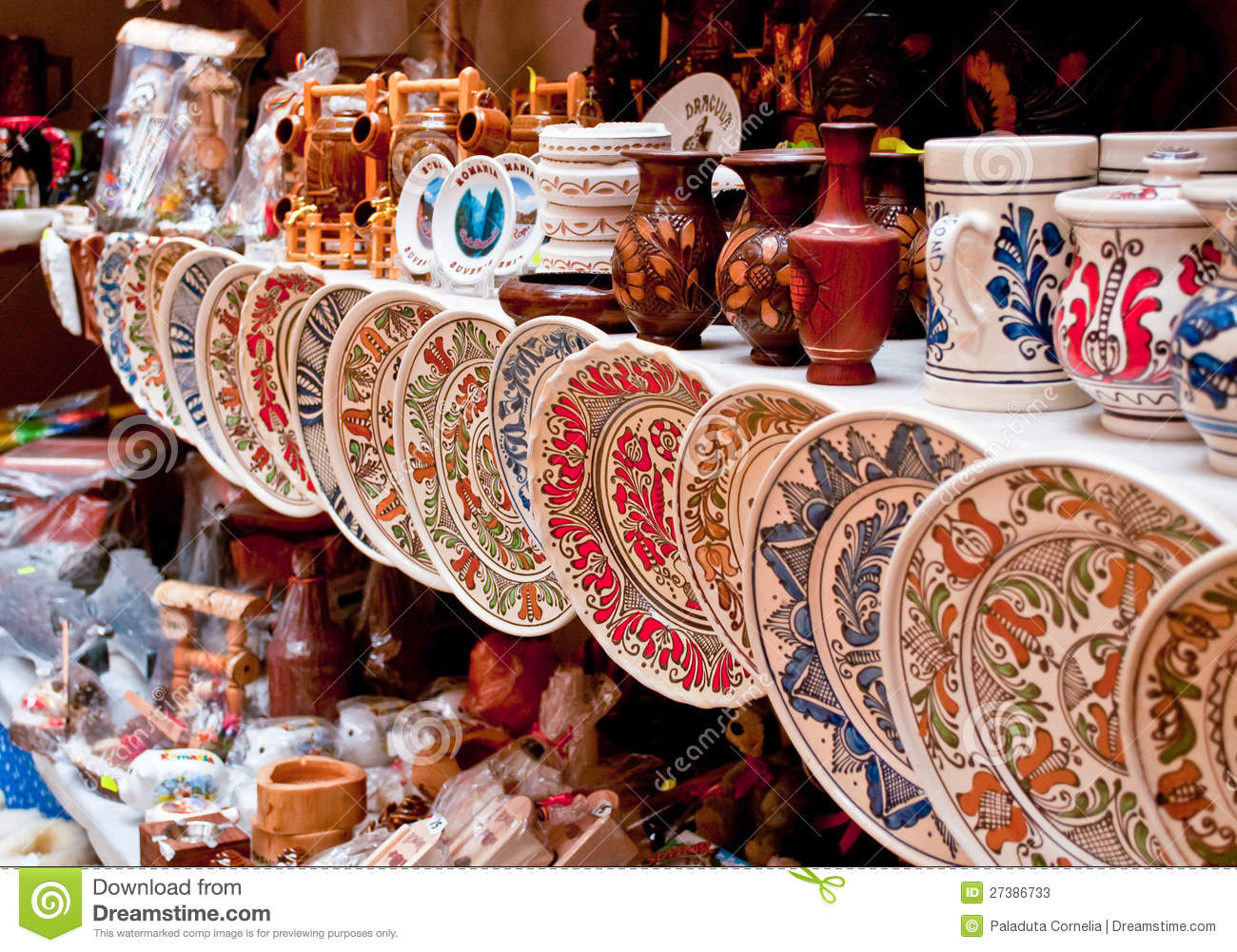 Castle For Sale Romania Ceramic Plates And Souvenirs Stock Image Image 27386733