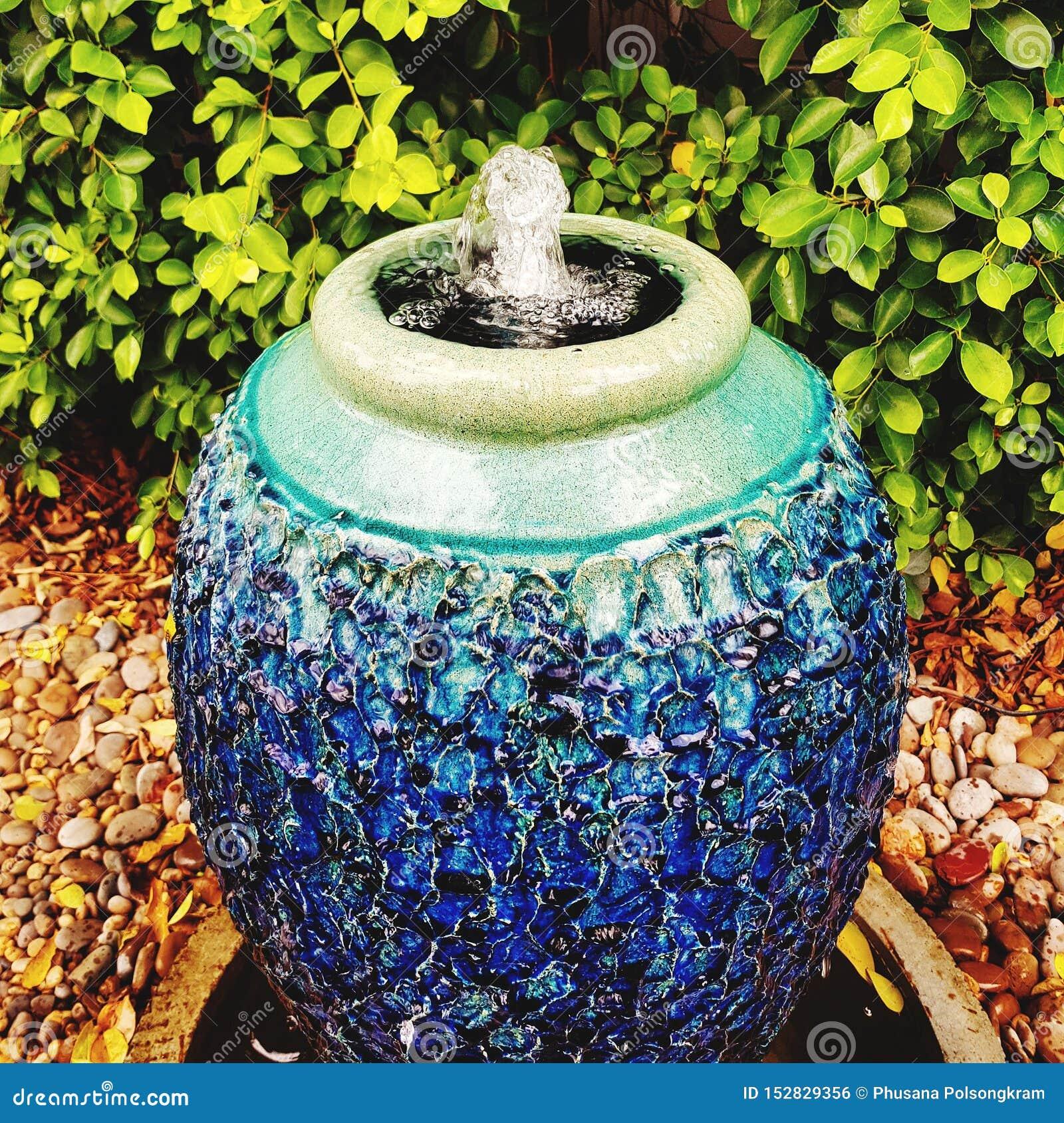 Ceramic Pot At Home Garden Stock Photo Image Of Ourdoor 152829356