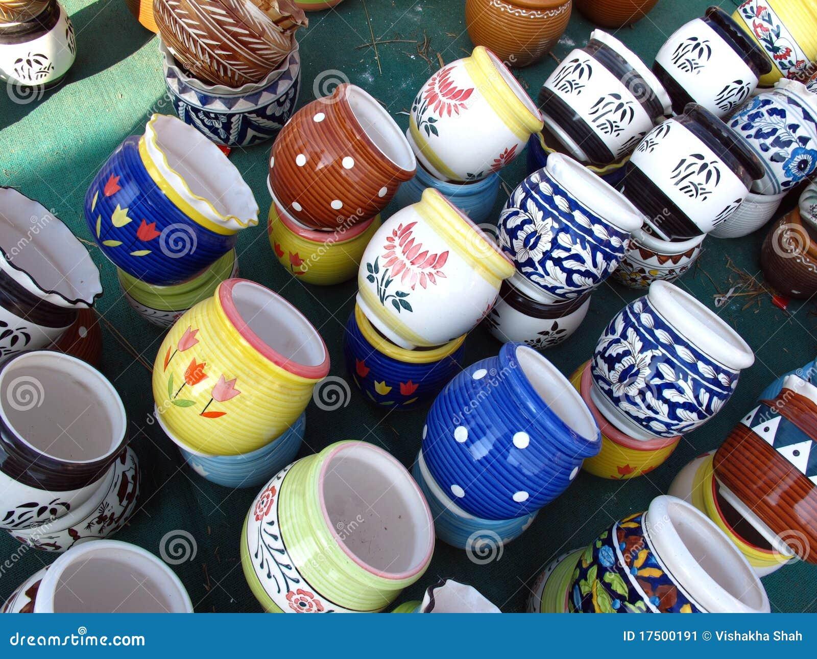 Nice Ceramic Pots For Sale Part - 9: Ceramic Clay Colorful Designer Pots Pottery Sale ...
