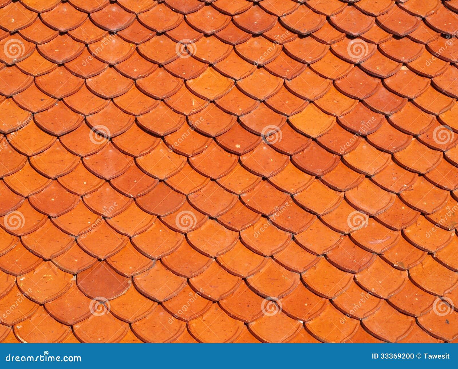 Ceramic Roof Scale Shape Stock Photo Image 33369200