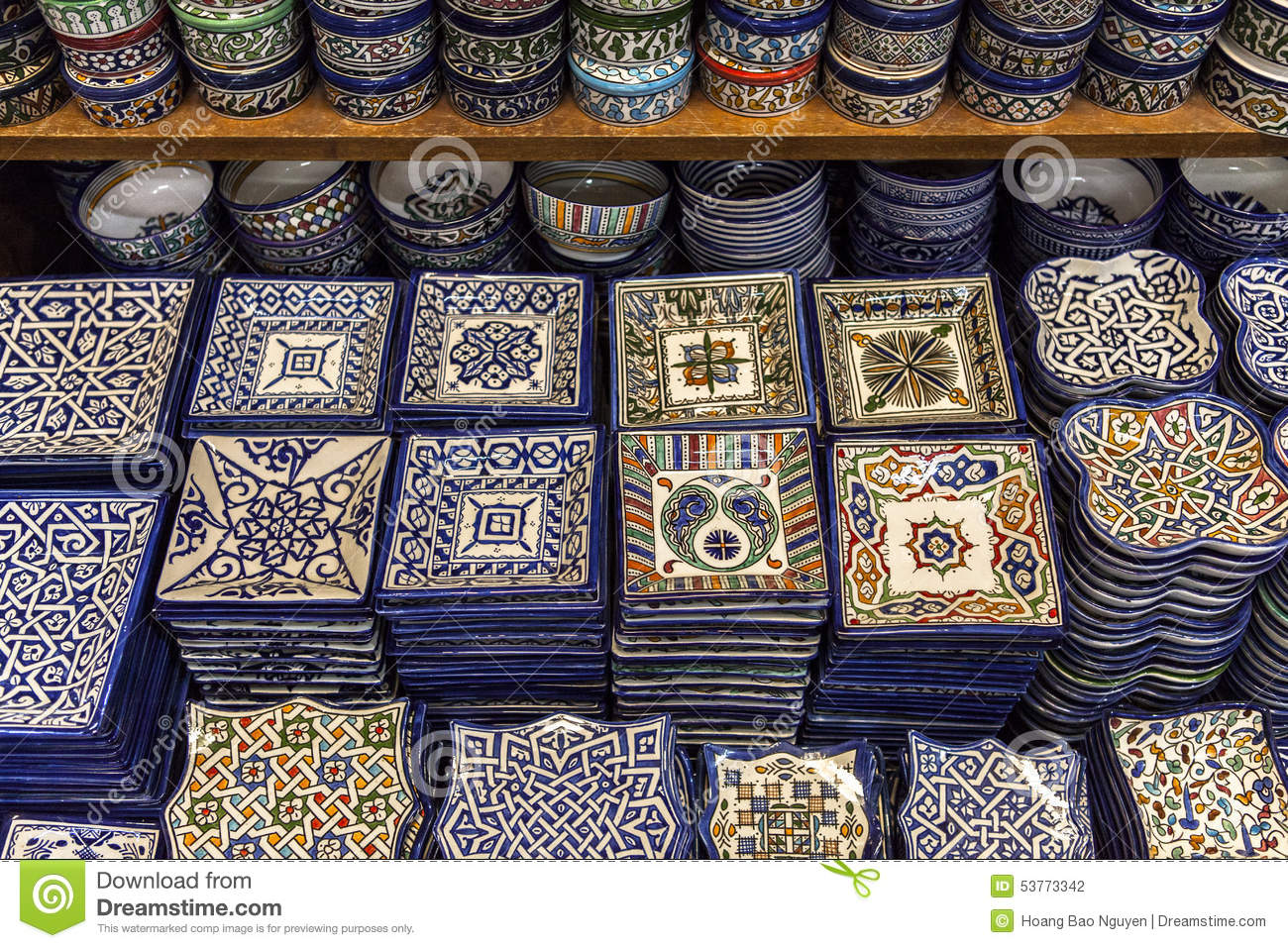 Ceramic Souvenirs Of Fez Morocco Stock Photo Image Of