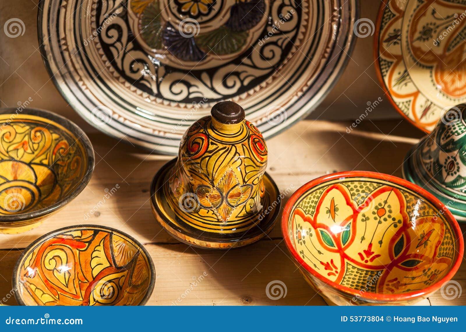 Ceramic Souvenirs Of Fez Morocco Stock Photo Image