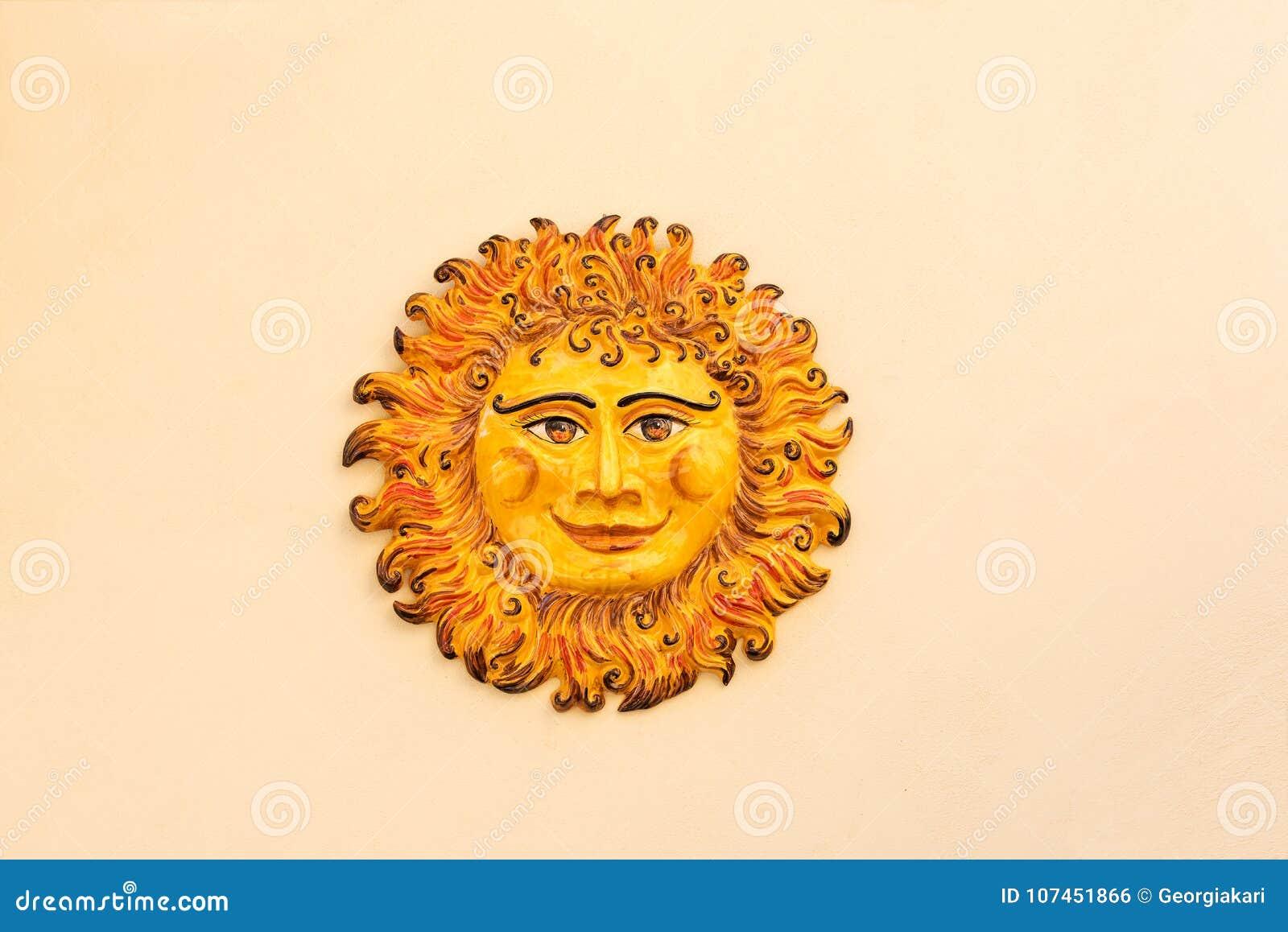 Ceramic sun stock photo. Image of decorative, design - 107451866