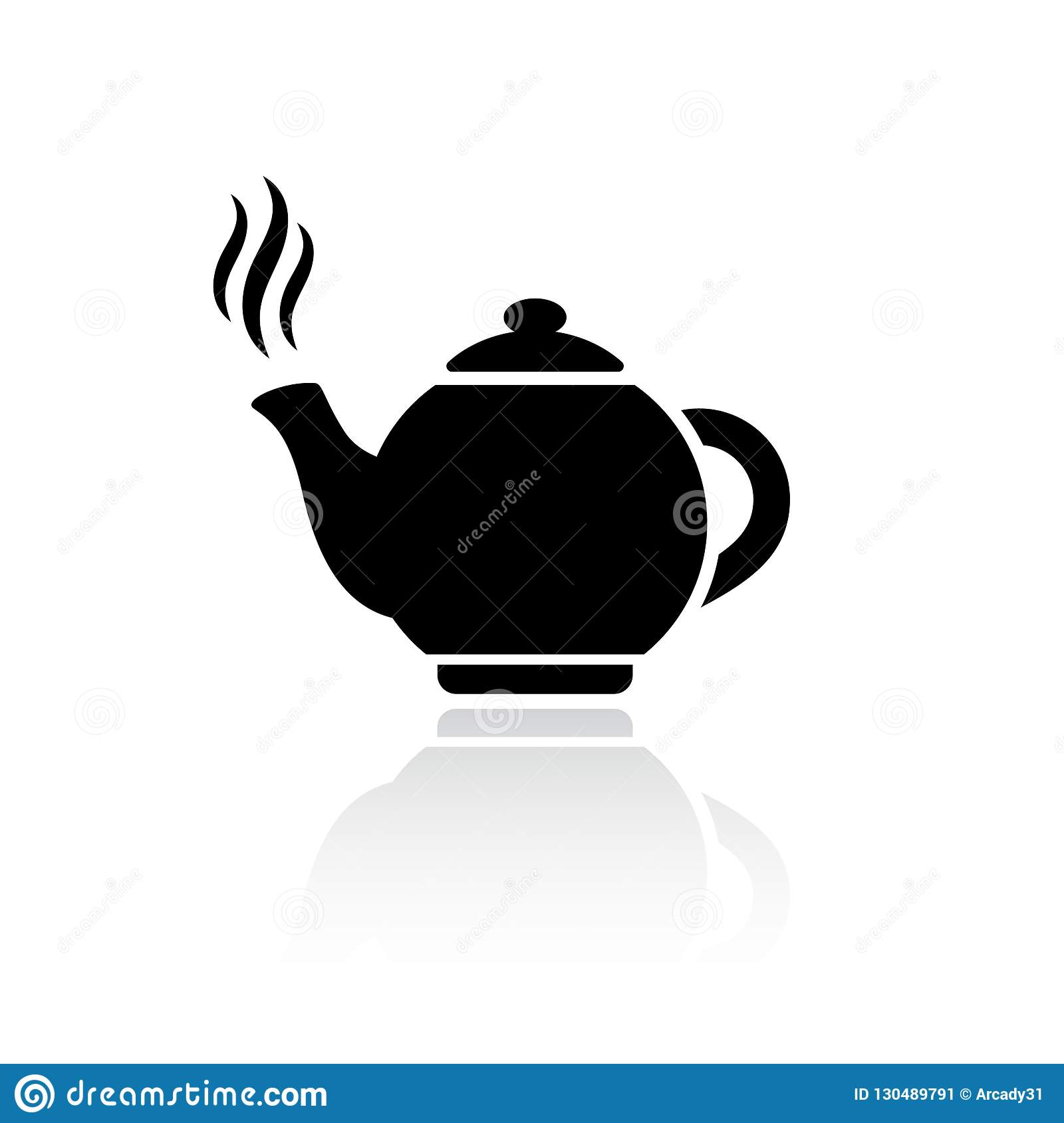 Tea pot vector icon stock vector. Illustration of chinese ...