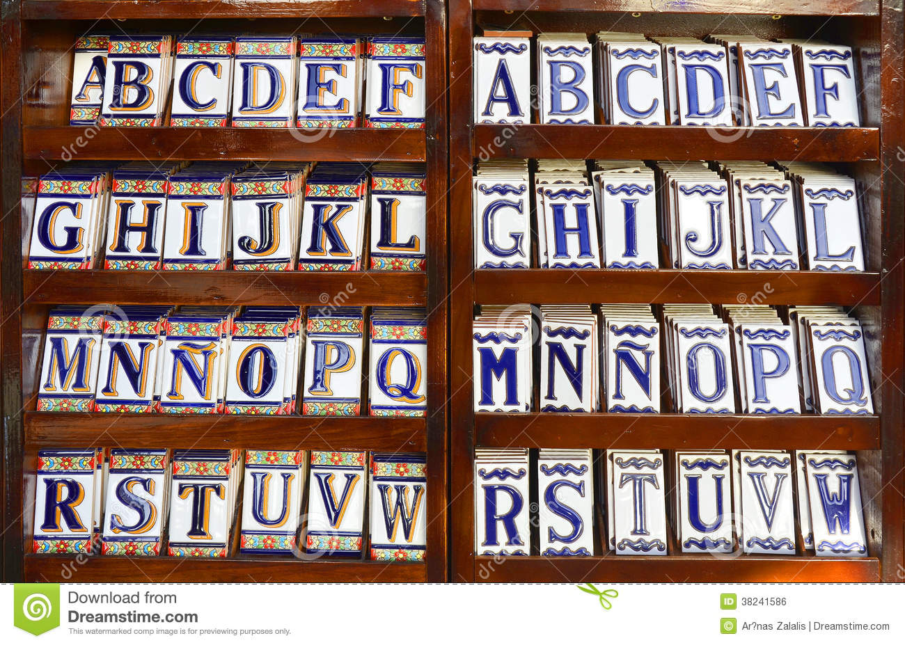 Ceramic Tile Alphabet Royalty Free Stock Image Image