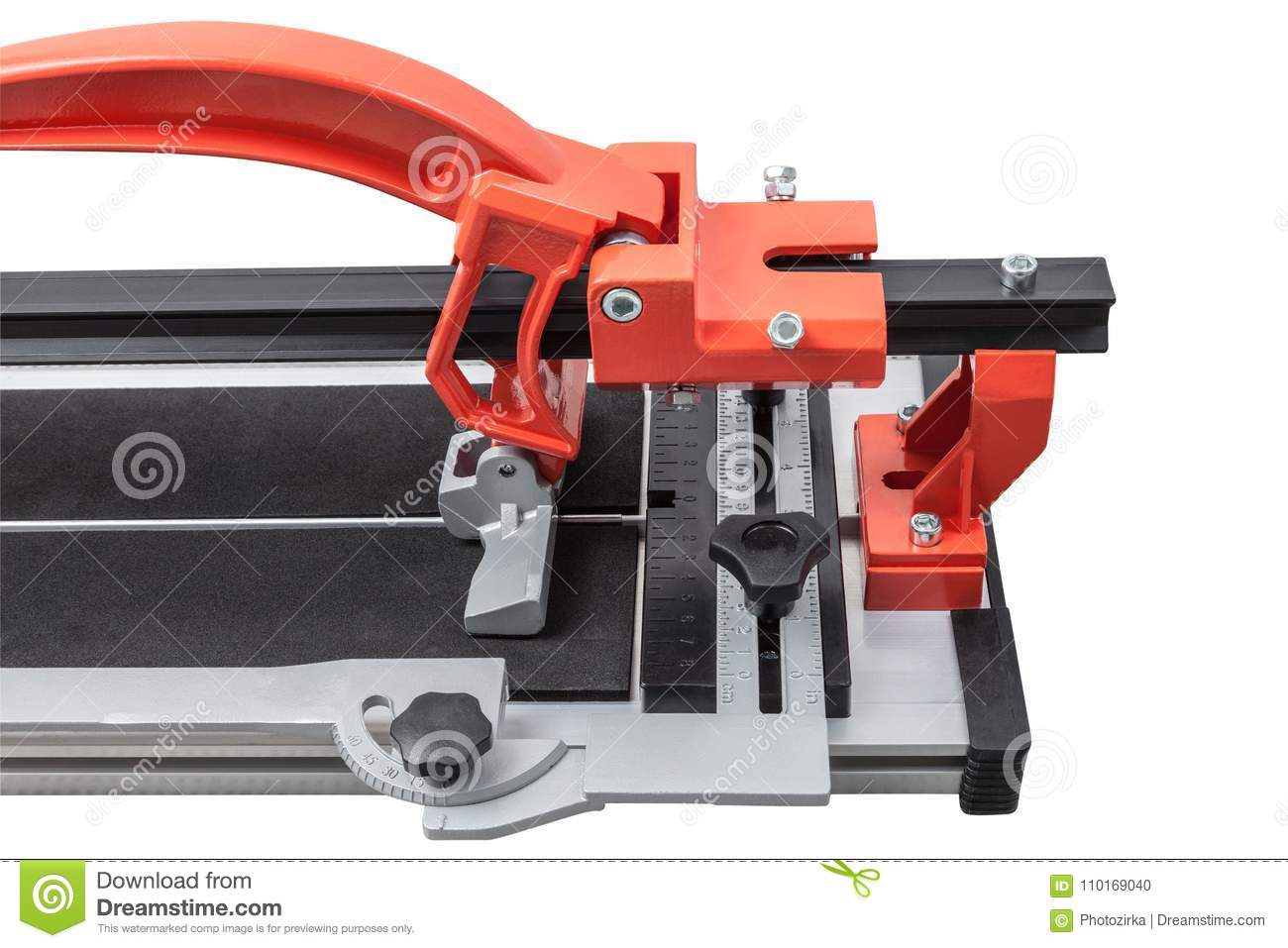 Ceramic Tile Cutter Isolated On White Stock Photo Image Of Heavy