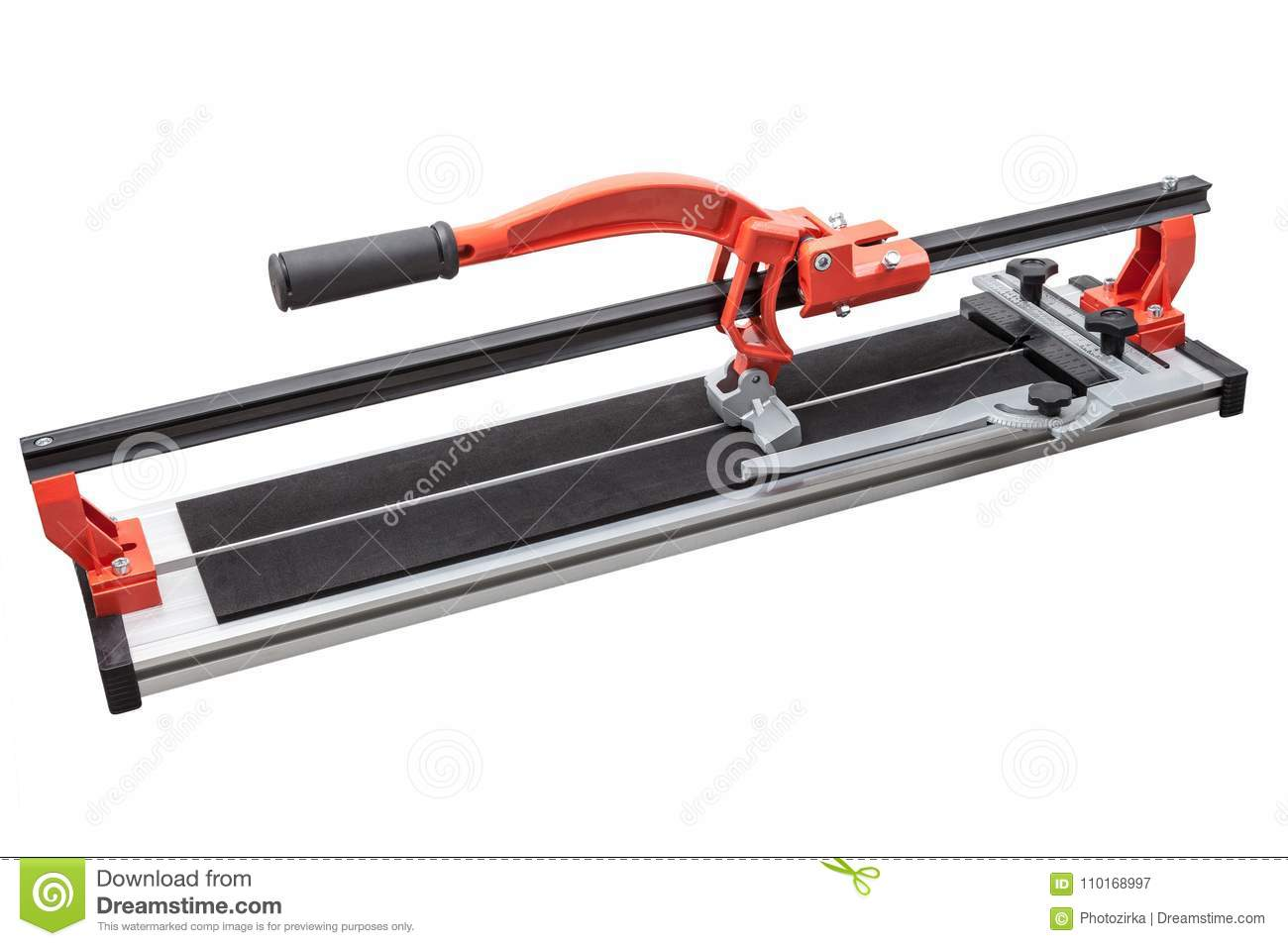 Ceramic Tile Cutter Isolated On White Stock Image Image Of