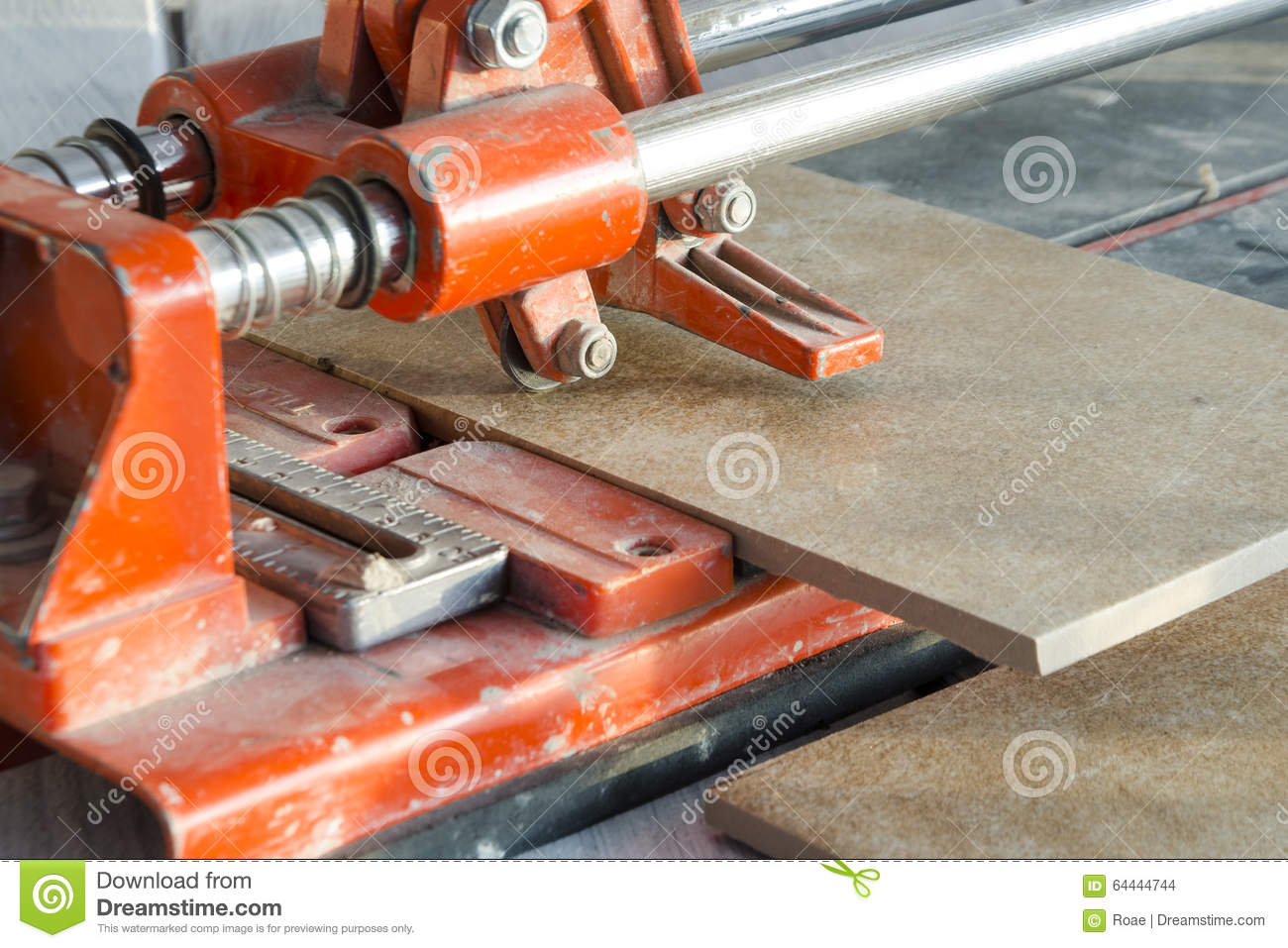 Ceramic tile cutting process stock photo image 64444744 ceramic tile cutting process dailygadgetfo Image collections