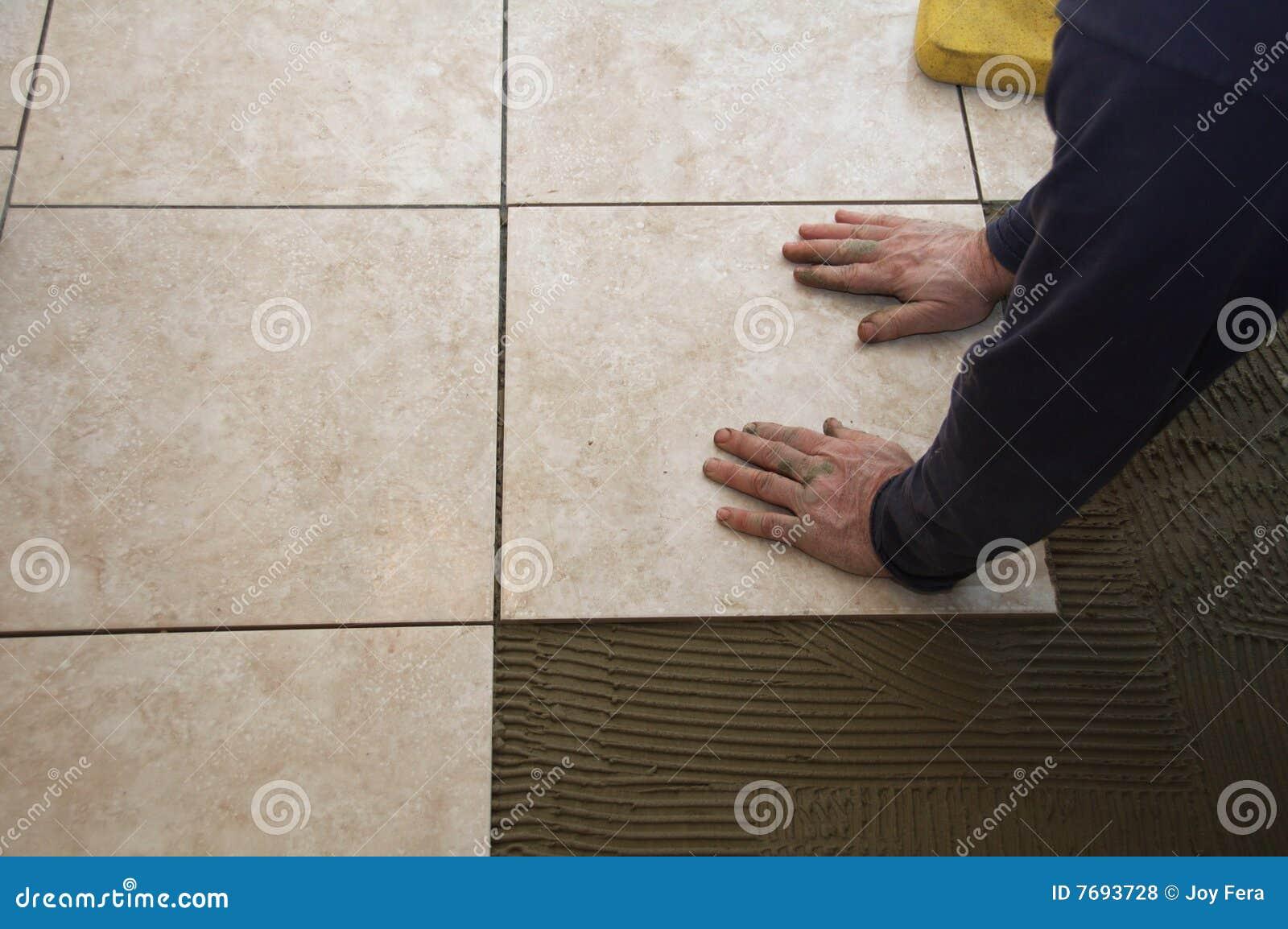 Ceramic Tile Installation Royalty Free Stock Photos Image 7693728