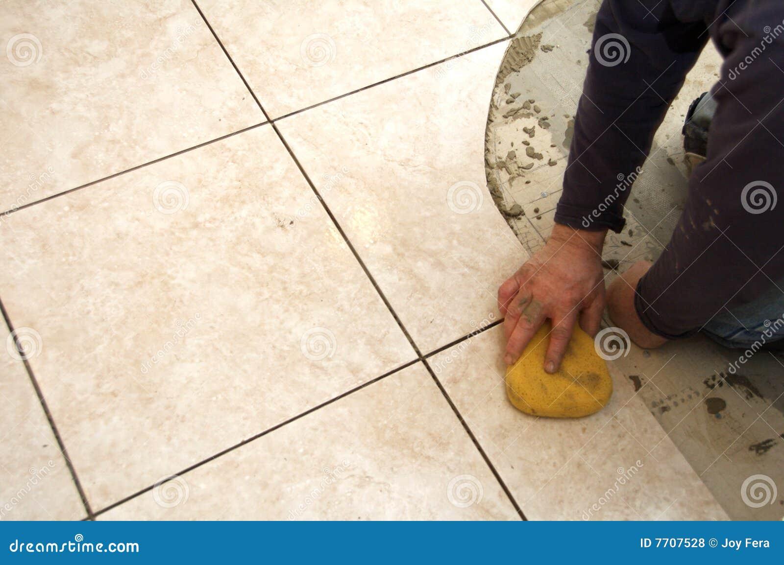 Ceramic tile installation royalty free stock photos for Ceramic floor installation