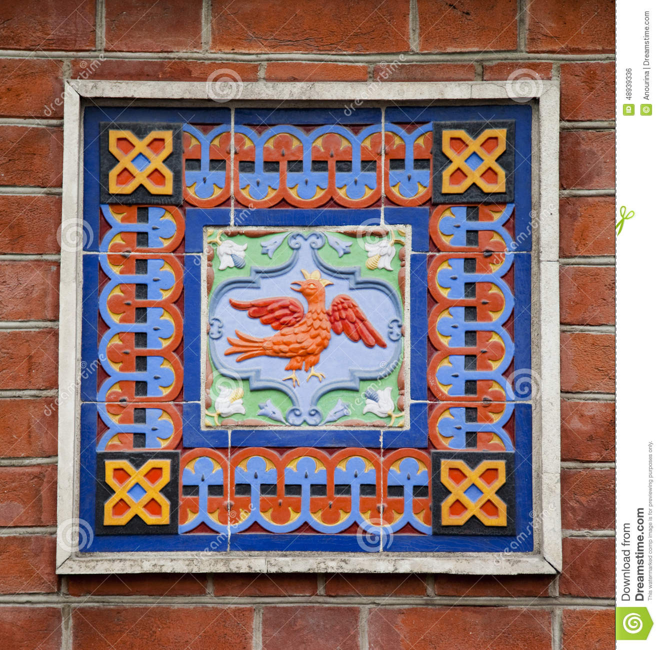 Ceramic Tile In Old Russian Stile Stock Photo - Image of background ...