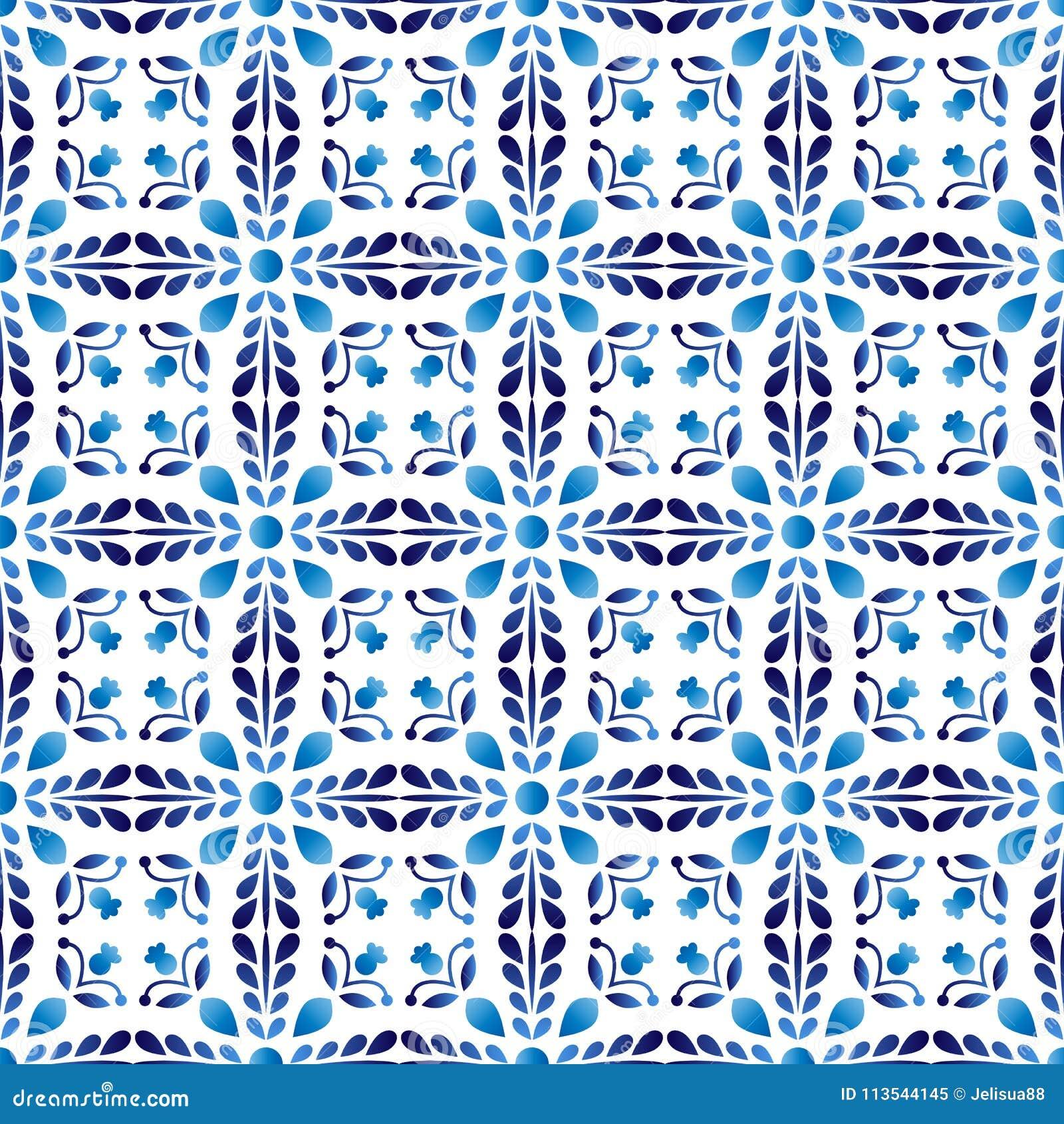 Ceramic Tile Pattern. Islamic, Indian, Arabic Motifs. Damask Sea ...
