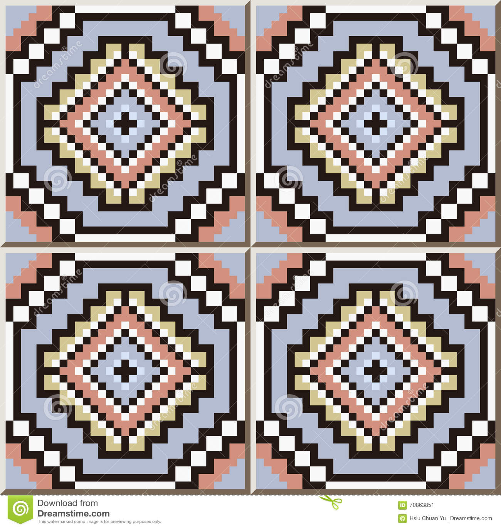 Ceramic Tile Pattern 360 Square Mosaic Octagon Geometry