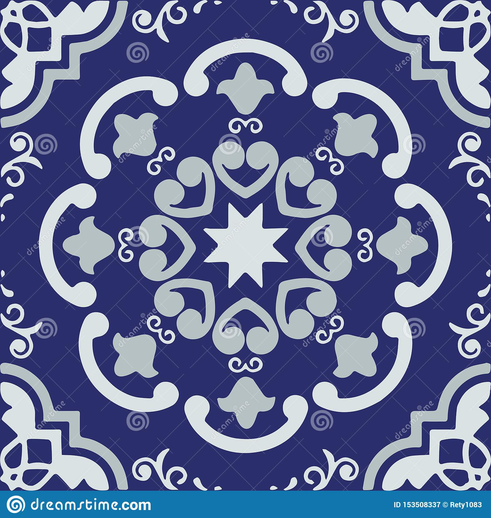 Ceramic Tile Portuguese Tiles Red And Blue Moroccan Tiles Blue And White Kitchen Tiles Bathroom Tiles Surface Pattern Vector Stock Illustration Illustration Of Moroccan Floor 153508337