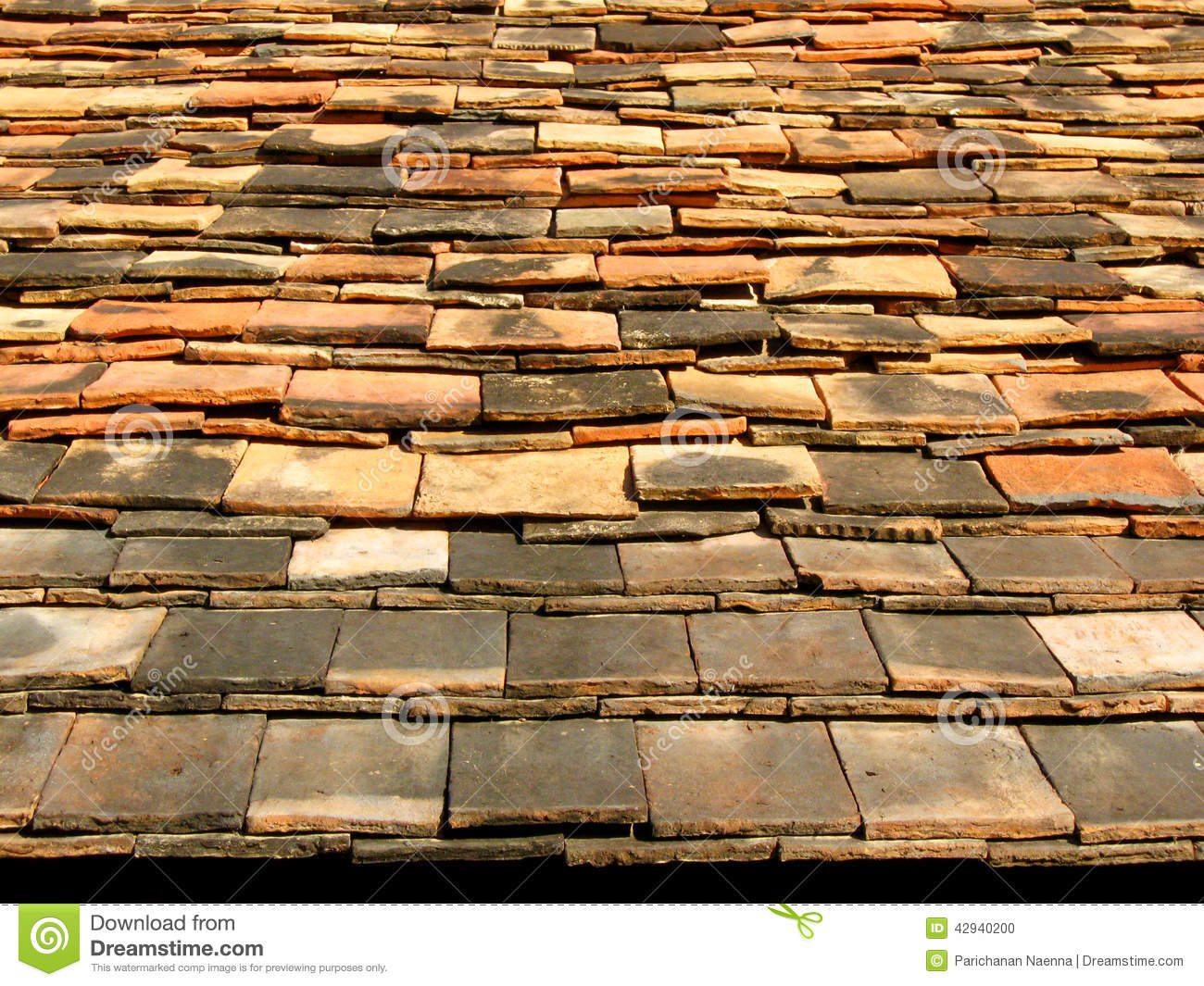 Ceramic tile roof stock photo image 42940200 - Houses with ceramic tile roofing ...