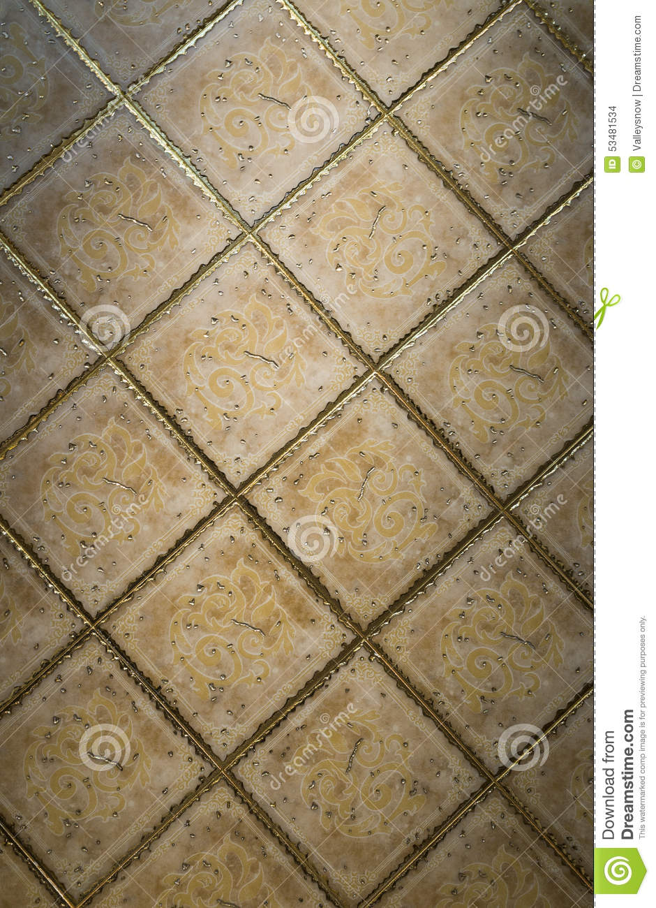 Download Ceramic tile surface stock photo. Image of clay, home - 53481534
