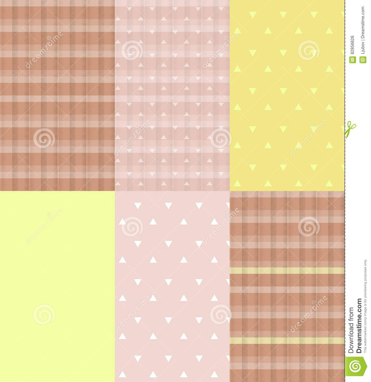 Ceramic Tiles Coffee Cream And Lemon Stock Vector Illustration