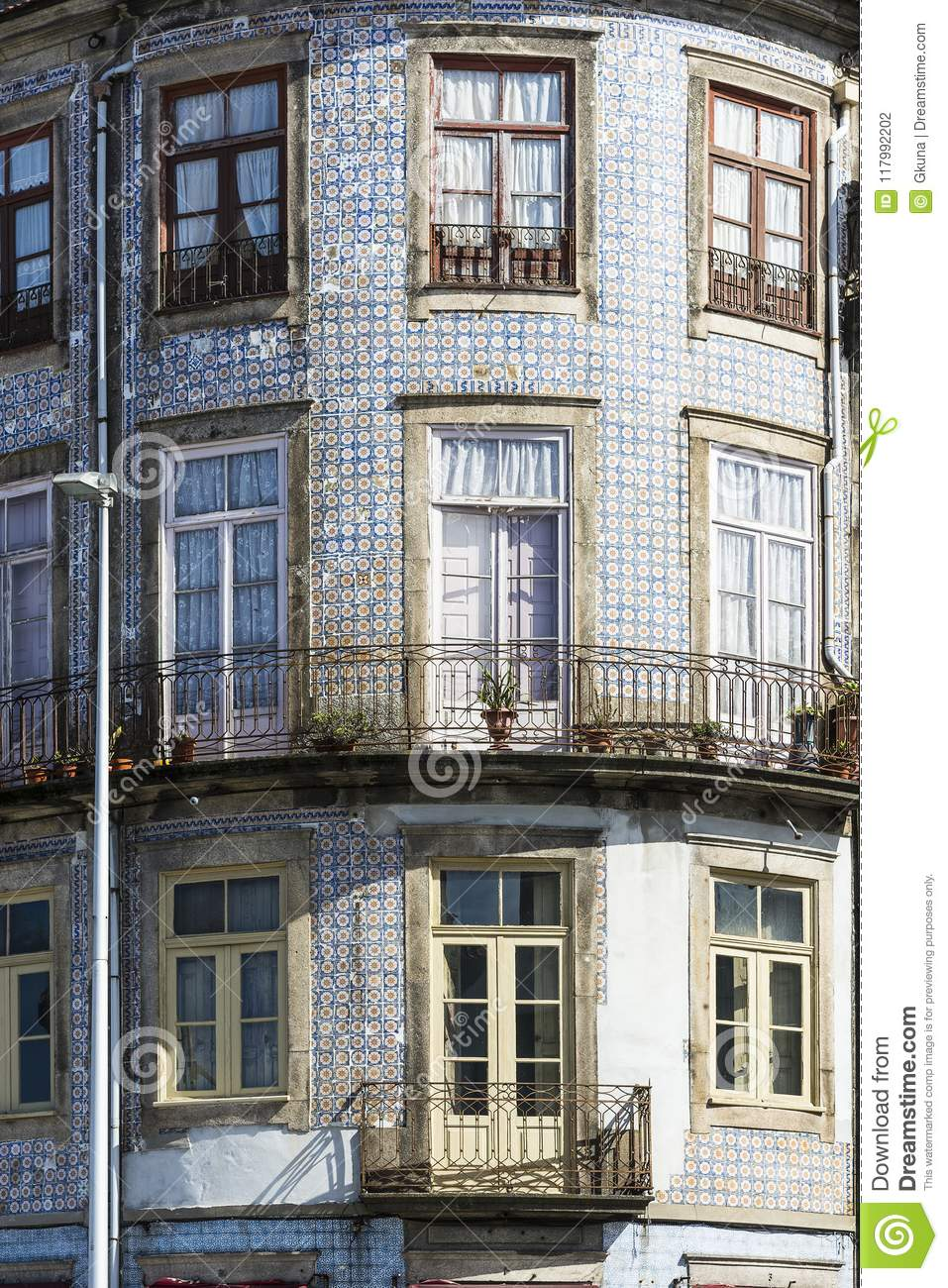 Ceramic Tiles Decorate A Facade Stock Photo Image Of Portugal