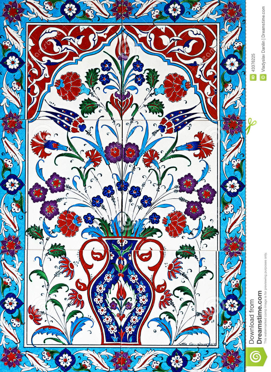 Ceramic Tiles Floral Stock Image Image Of Decorative