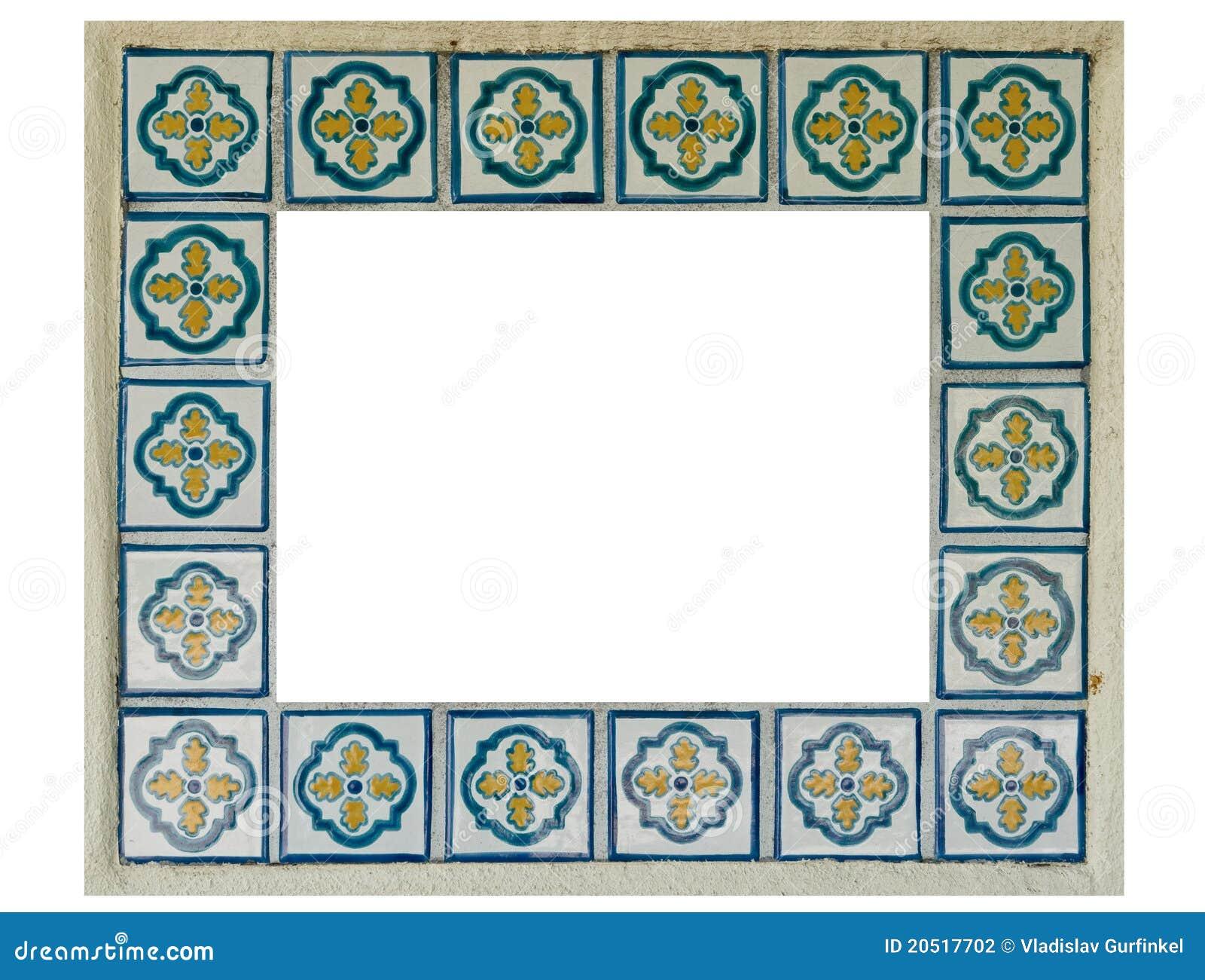 Ceramic tiles frame stock photo. Image of spanish, textures - 20517702