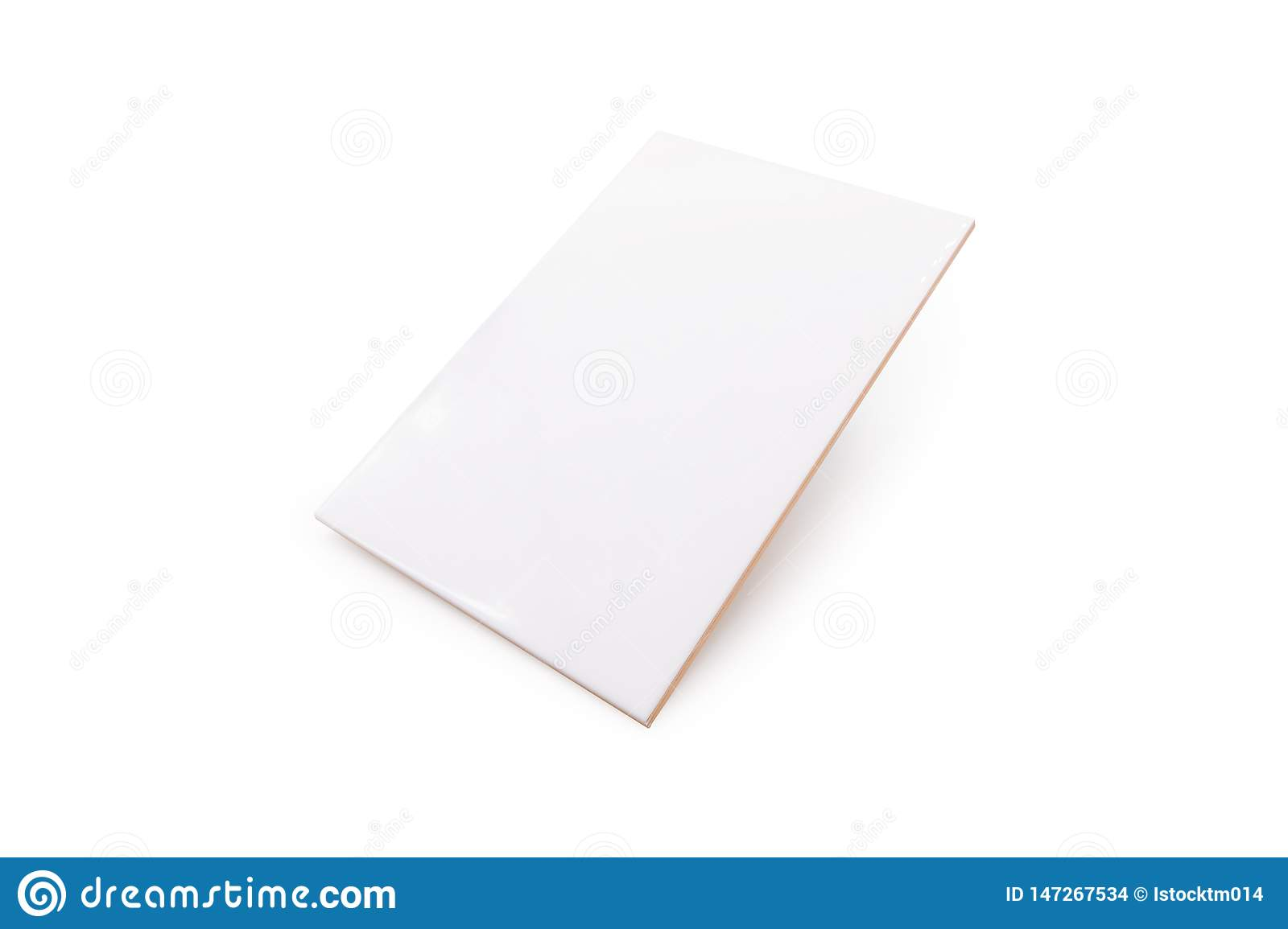 Ceramic tiles on isolated background with clipping path