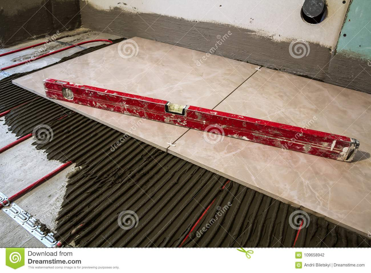 Ceramic Tiles And Tools For Tiler Floor Tiles Installation Hom