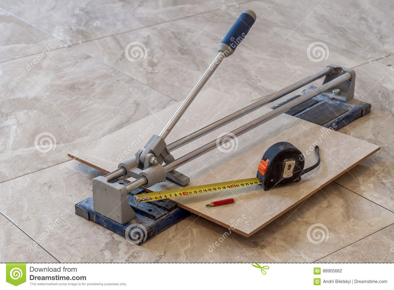 Ceramic tiles and tools for tiler floor tiles installation hom royalty free stock photo dailygadgetfo Images