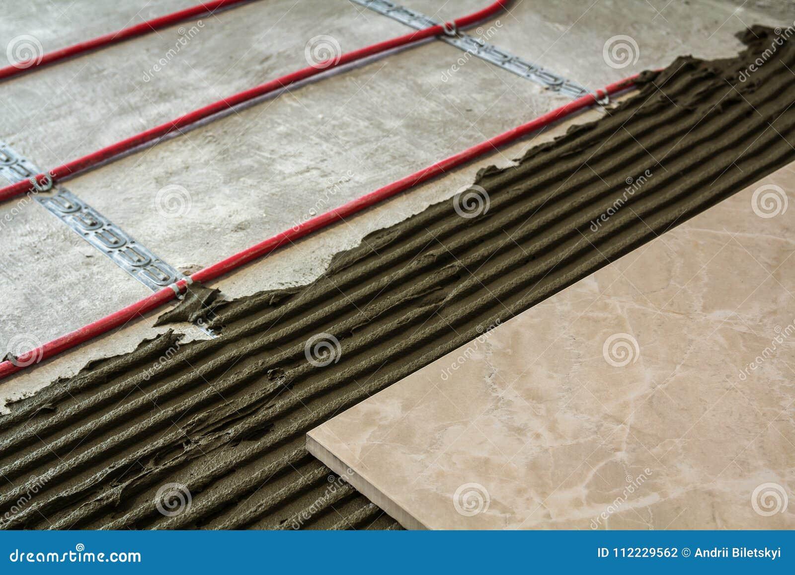 Ceramic Tiles And Tools For Tiler Floor Installation Home Improvement Renovation