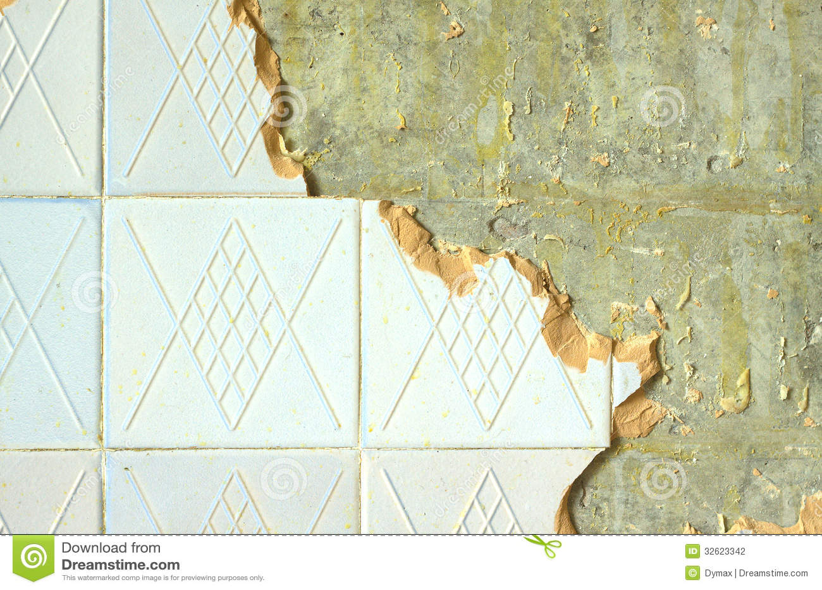 Ceramic Tiling On Repairing Room Wall Stock Photo Image Of Closeup