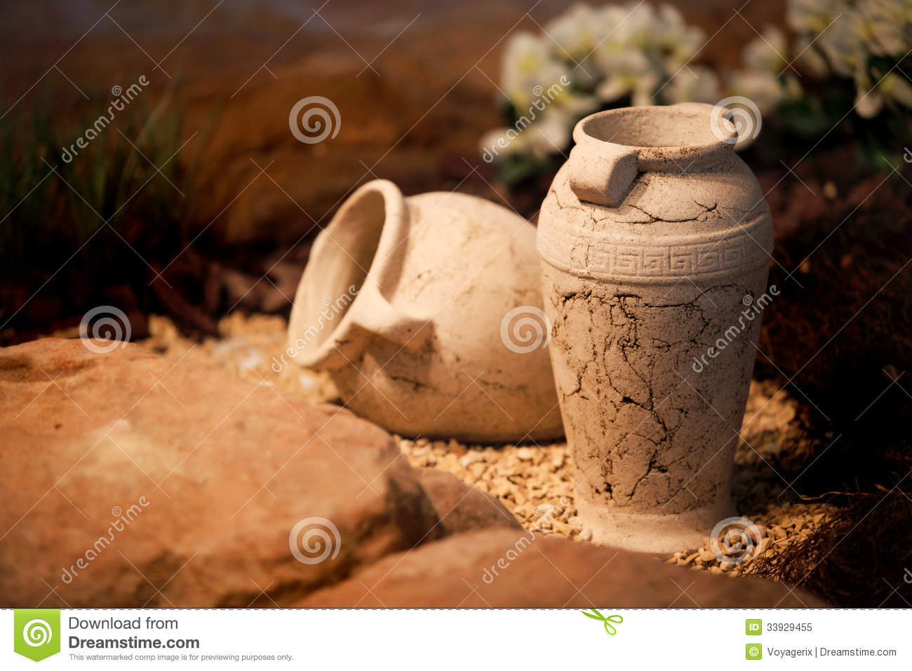 Decorative Jugs And Vases Ceramic Vases Clay Jugs Decoration And Craft Royalty Free Stock
