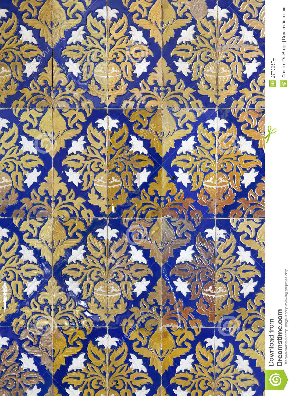 Ceramic Wall Tiles In Seville Spain Stock Photo Image