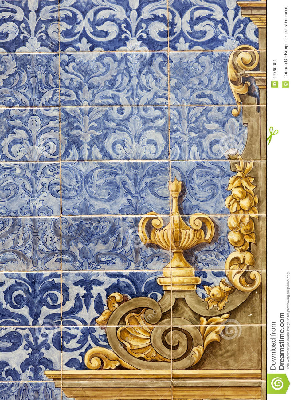 Ceramic Wall Tiles In Seville Spain Stock Image Image