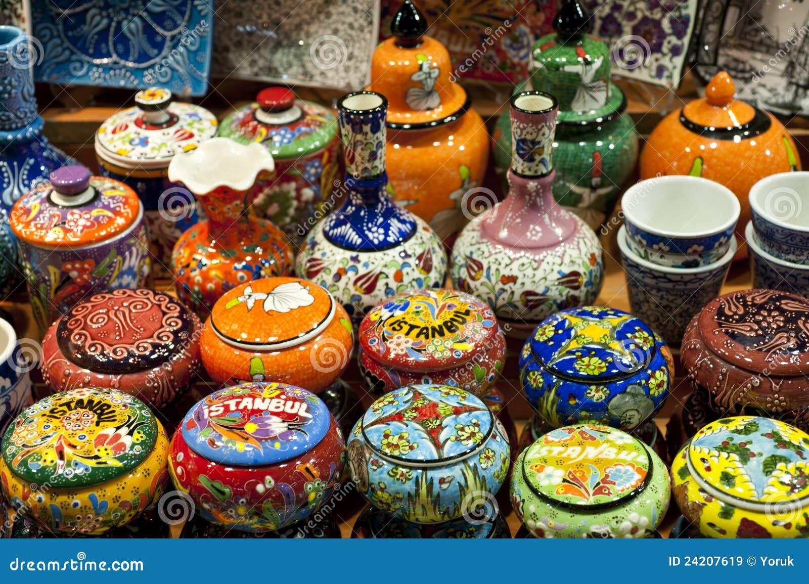 Ceramics On Display Istanbul Turkey Royalty Free Stock