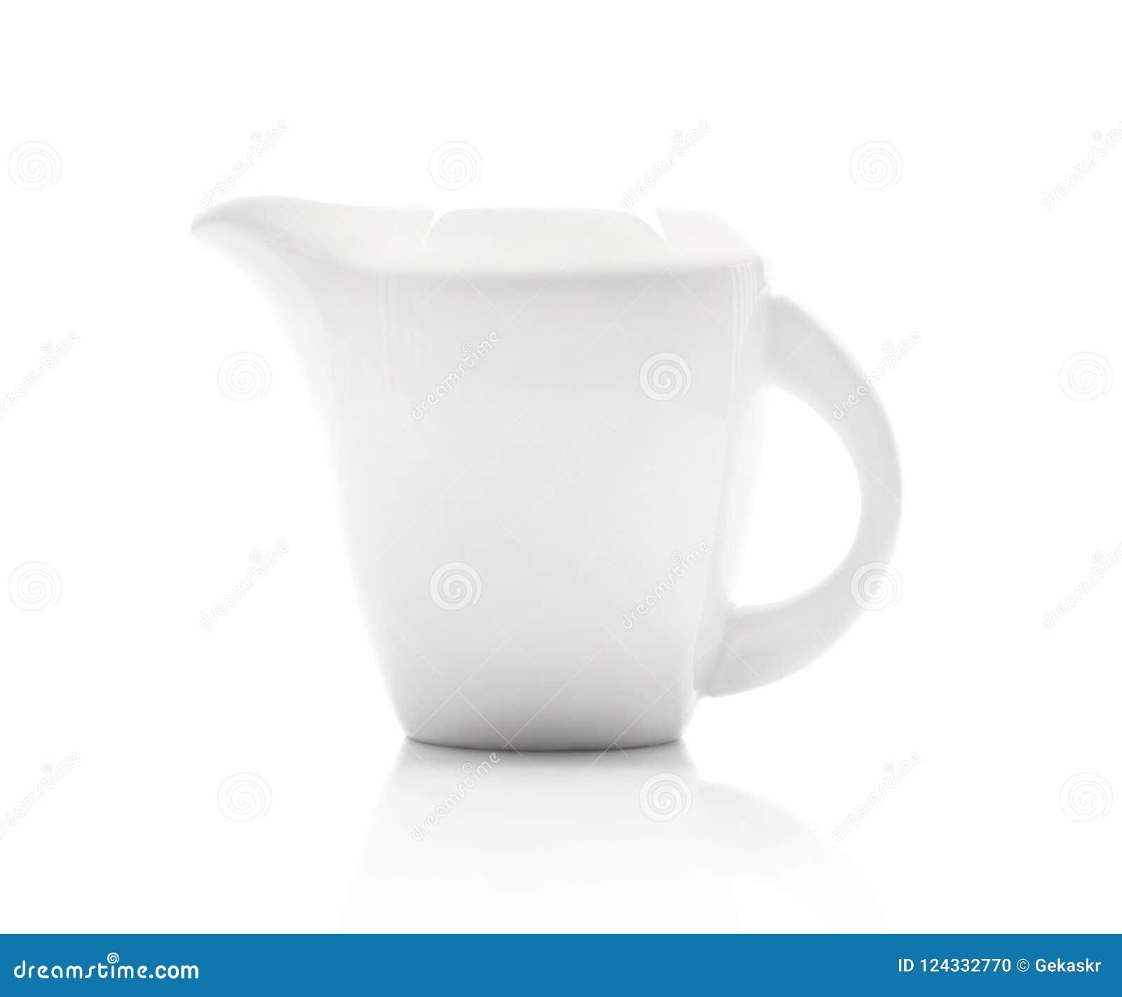 Ceramiczny biały dojny dzbanek