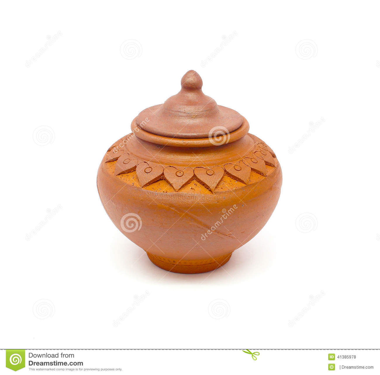 Ceramiczny garnek Na białym tle
