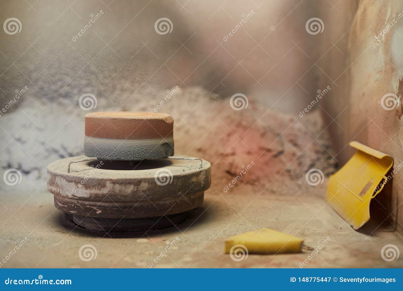 Ceramiczny ko?o z stojakiem