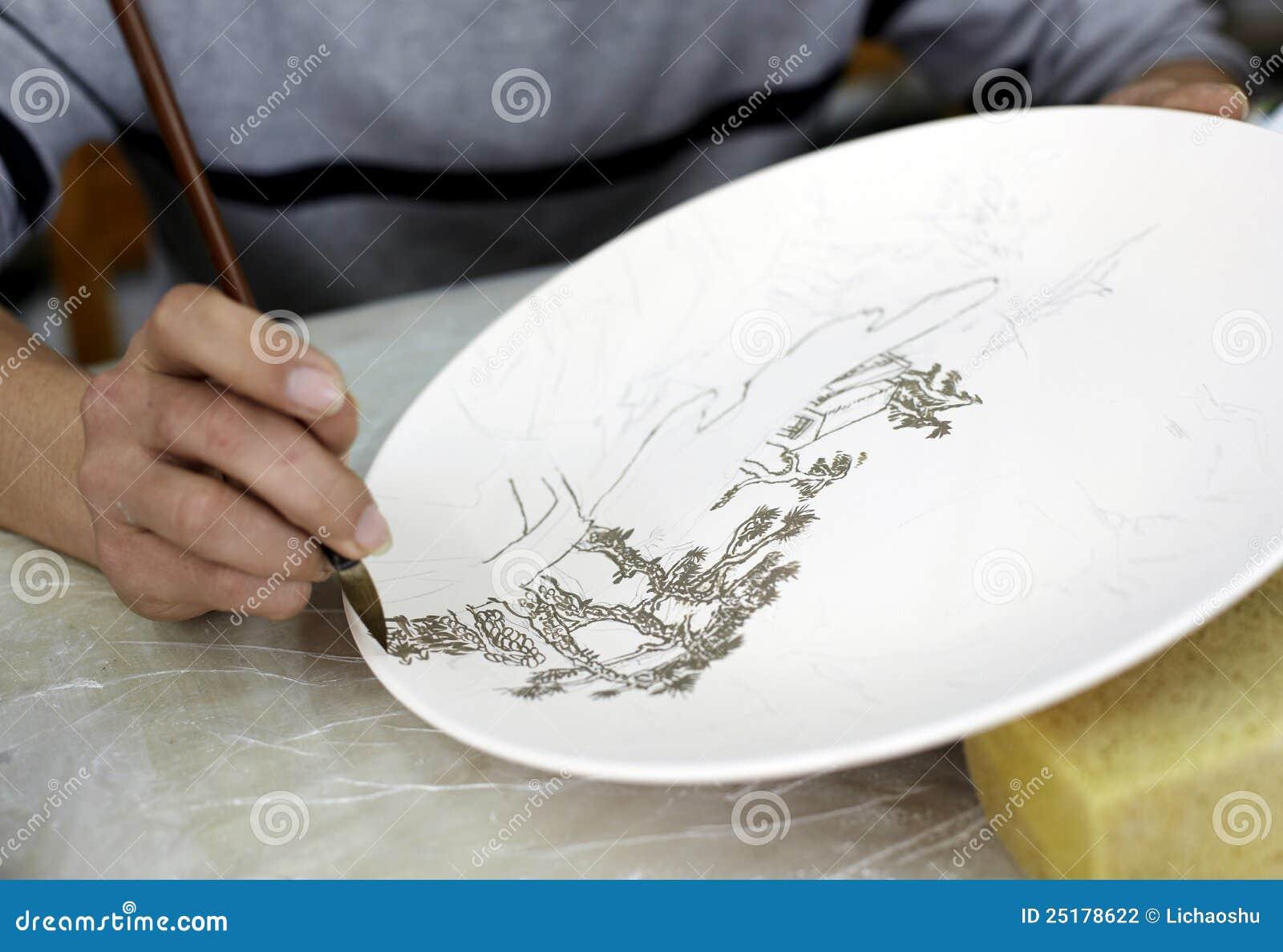 Ceramika chiński ręki obraz